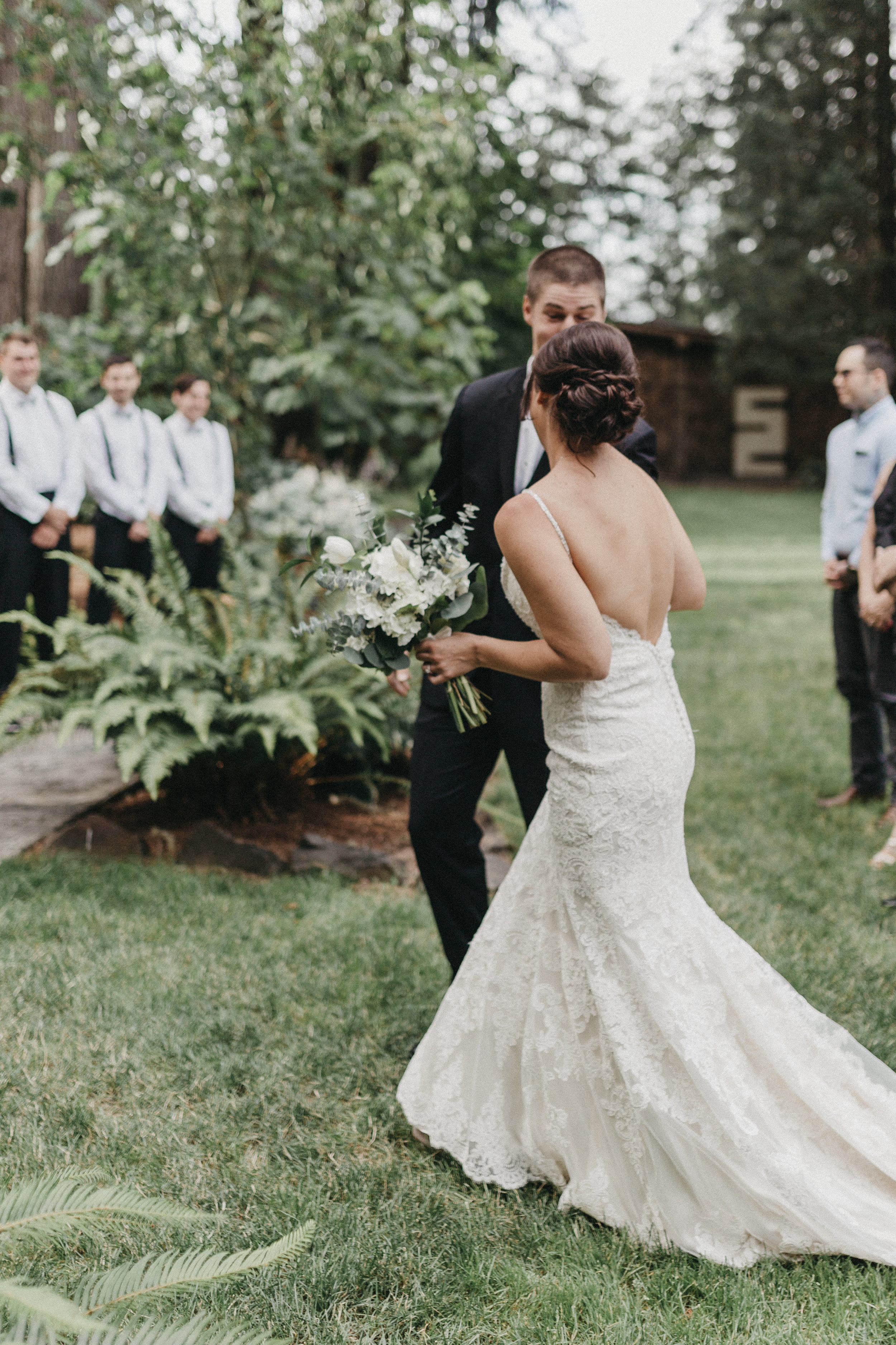 Shaynah Vandegriffe Photography | Eugene, Oregon wedding photographer | Deep Woods Events Wedding | Oregon Bride | Father of the Bride | Wedding Ceremony | Deep Woods Events | First Look