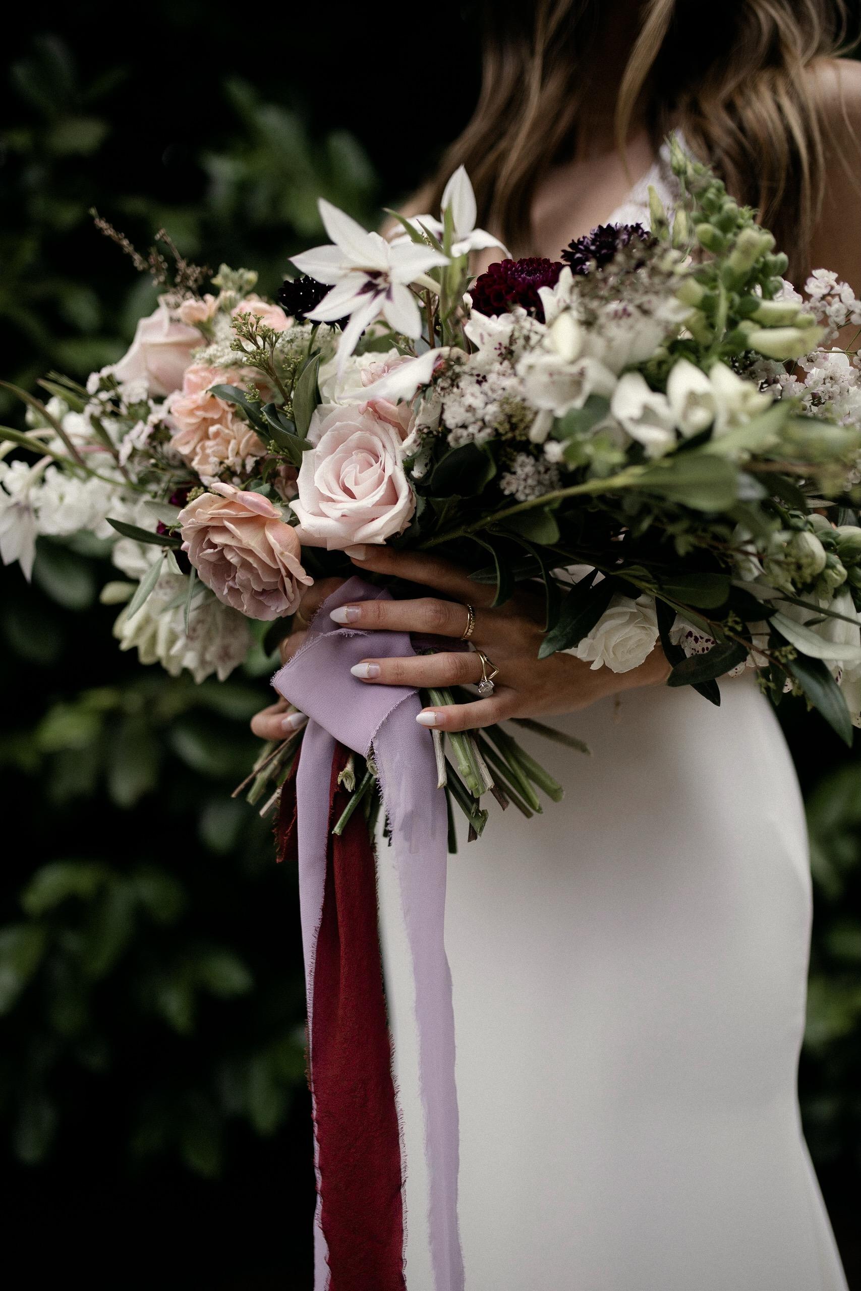 Bride details Brier and Ivy wedding bouquet
