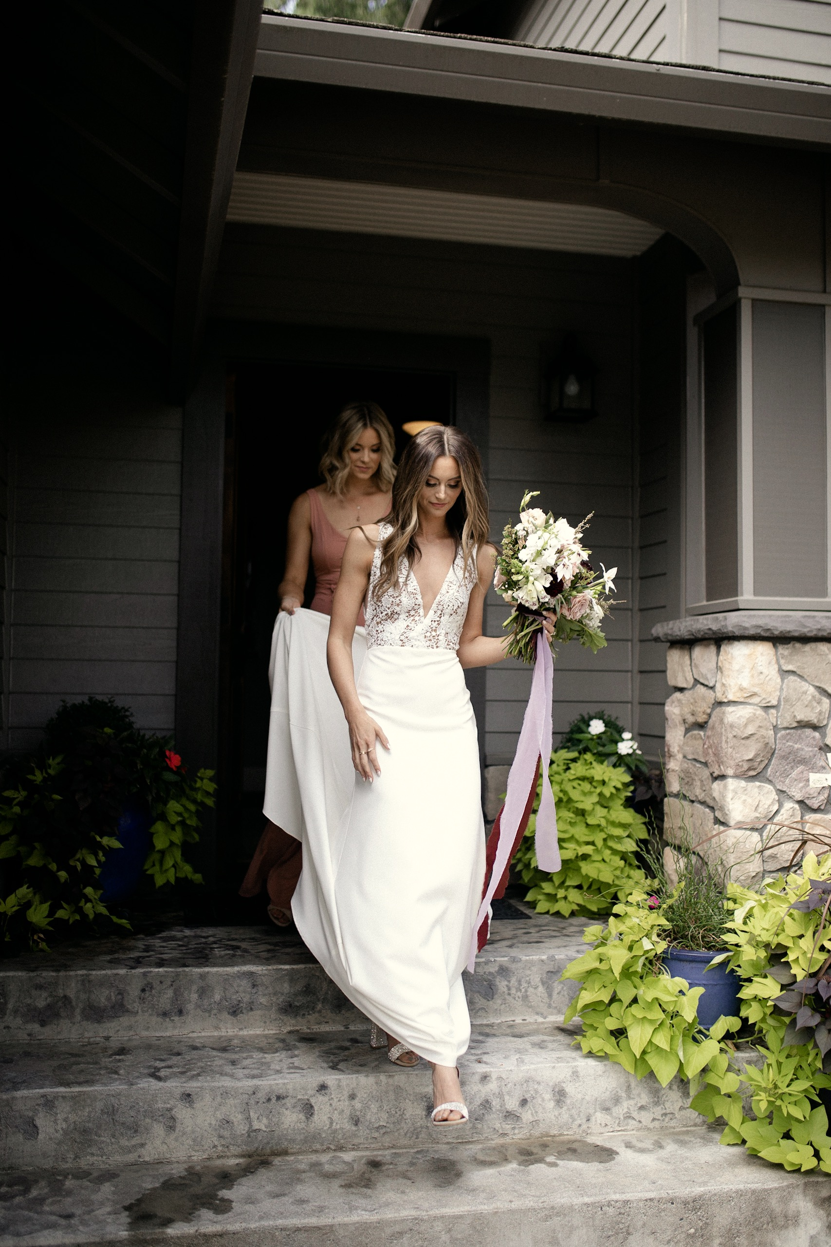 Bride look Sarah Seven wedding dress
