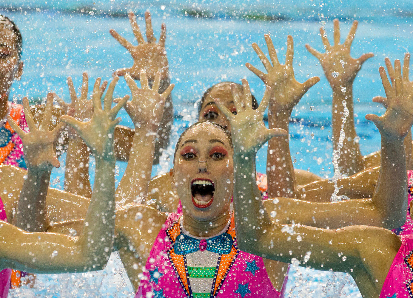 APTOPIX Canada Pan Am Games Synchronized Swimming