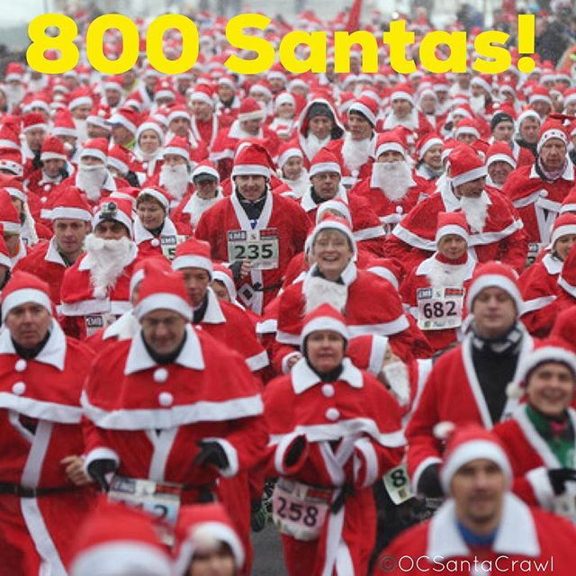 We are so stoked for @ocsantacrawl we are officially 800 Santas Strong!! More and more are getting their tickets still. We are tracking to break last year's record of 1200. Spread the holiday cheer and invite your friends for the largest Charity Pub Crawl in Orange County! Use promo code: fbsanta50 to save 50% See you Sat at 1pm! #ocsantacrawl #oc #orangecounty #newportpeninsula #newportbeach #cocktails #santacon #santacrawl #beer #wine #cocktails #ladiesnight #sexysantas #santaslittlehelper #costumeparty