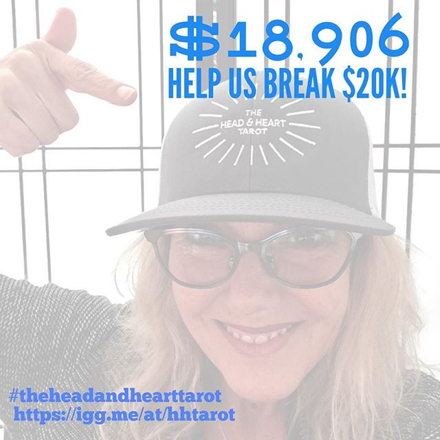 We are feeling so grateful over here at The Head & Heart Tarot!!!!! Come on over to our campaign and support our mission to bring more real and meaningful conversations into the world! Igg.me/at/hhtarot