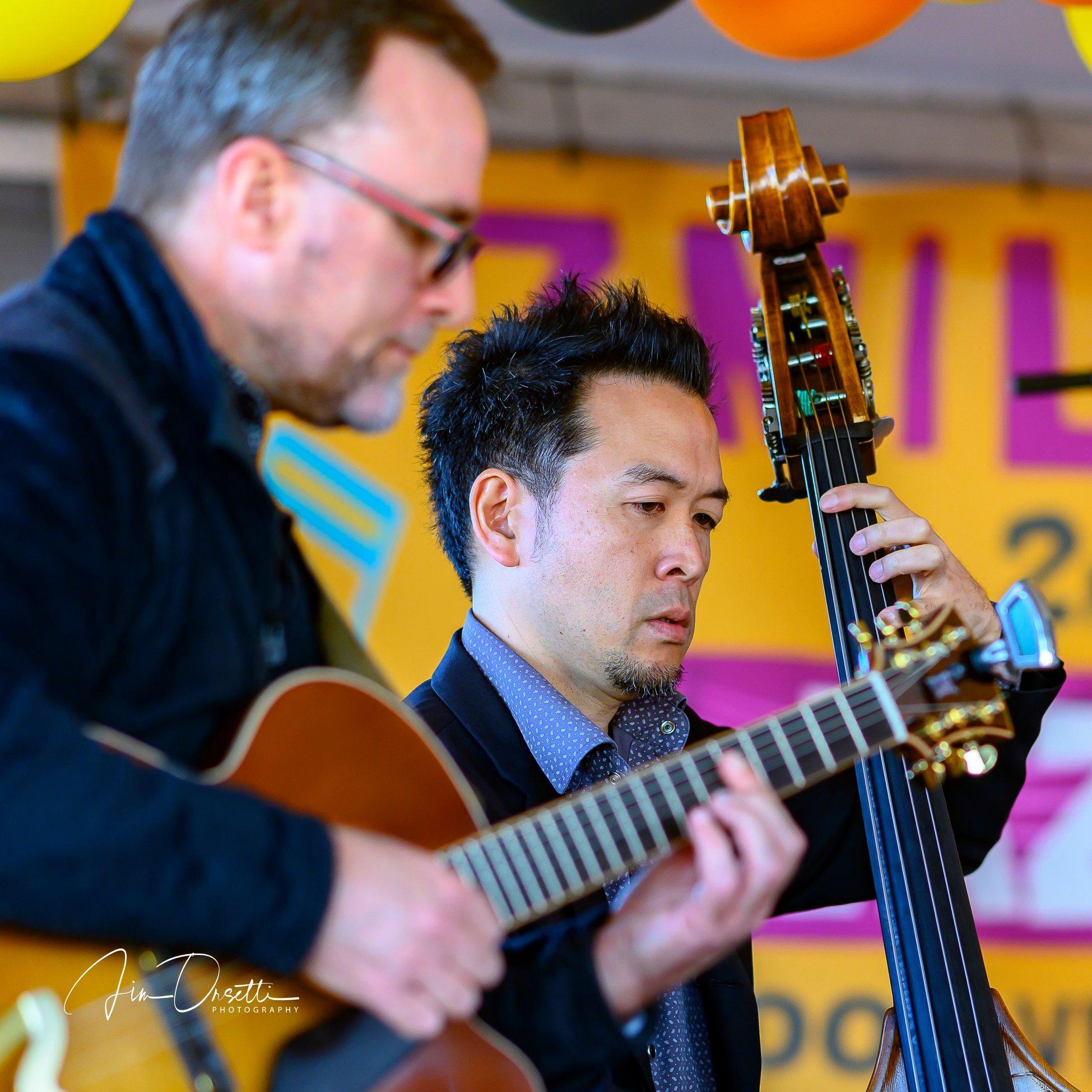 Scott Sorkin & Ken Okada at the 2nd Annual 7 Mile House Jazz Fest 2019