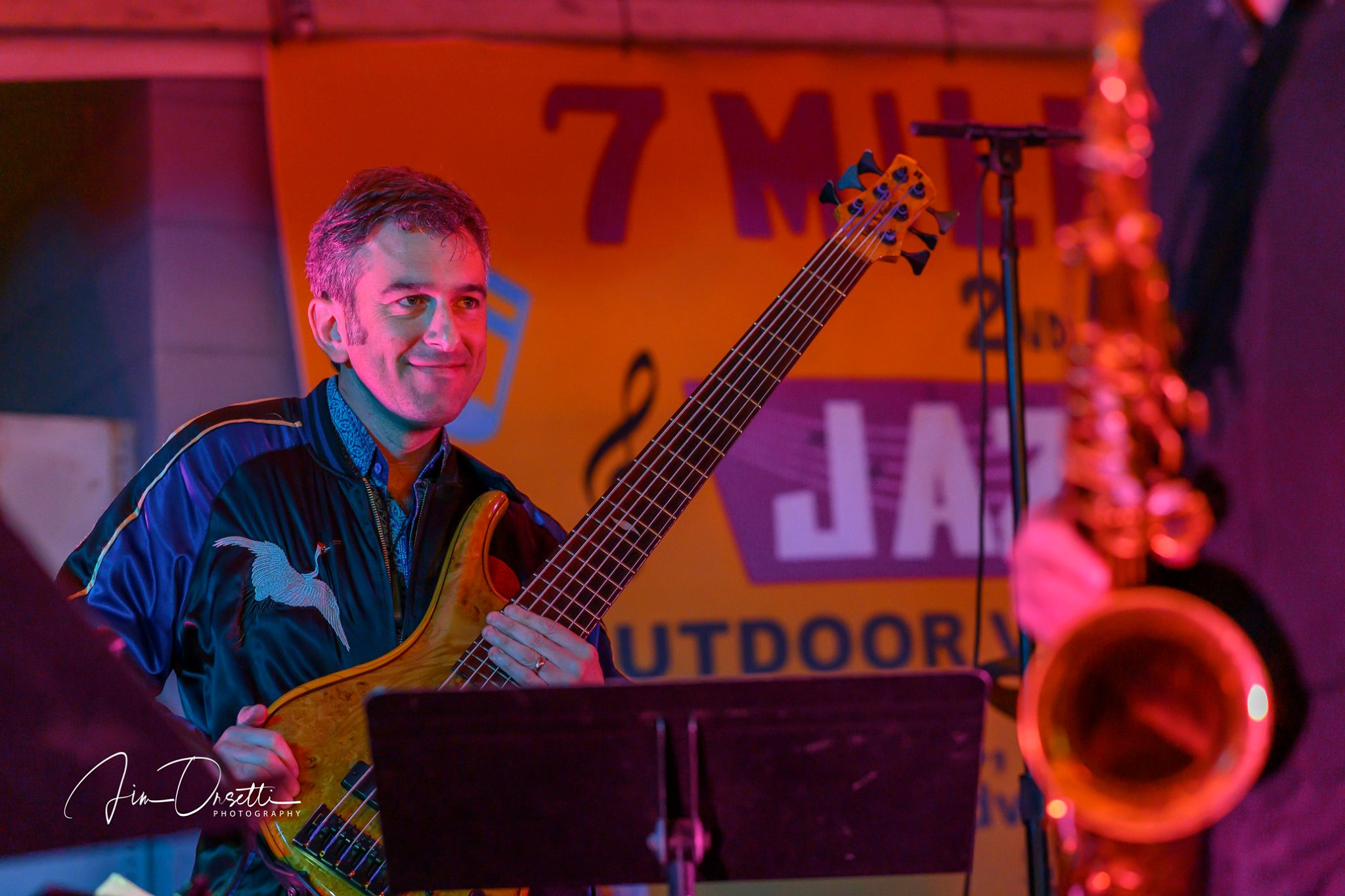 Aaron Germain at the 2nd Annual 7 Mile House Jazz Fest 2019