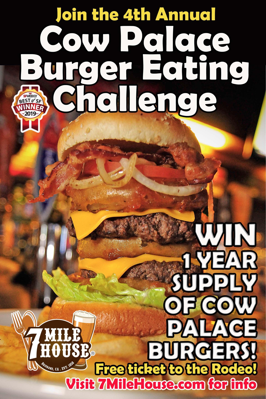 Cow Palace Burger Eating Challenge 2019 Postcard FRONT no address.jpg