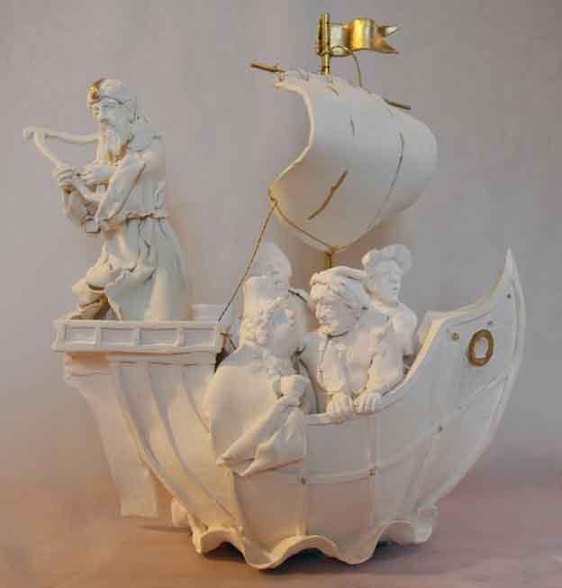 Music of the Gods Porcelain, gold leaf