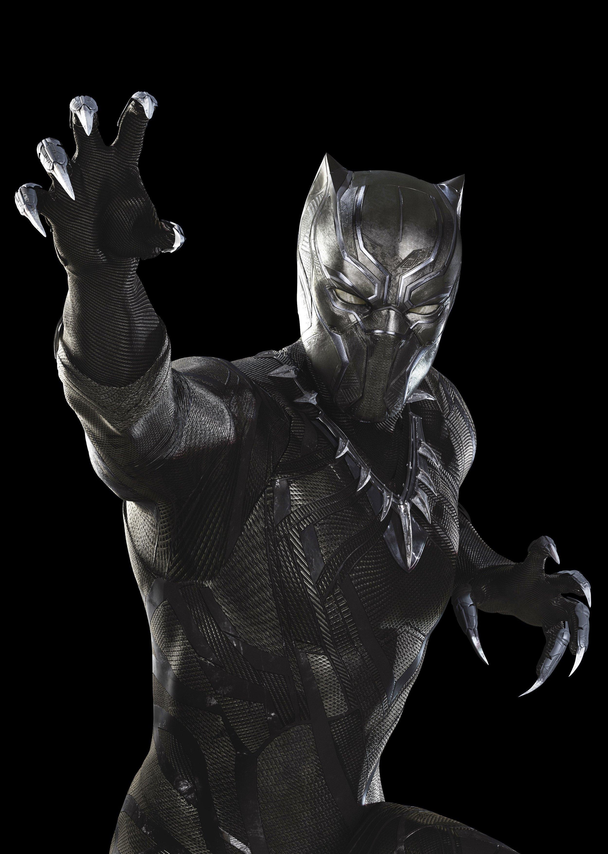 Black Panther, played by Chadwick Boseman