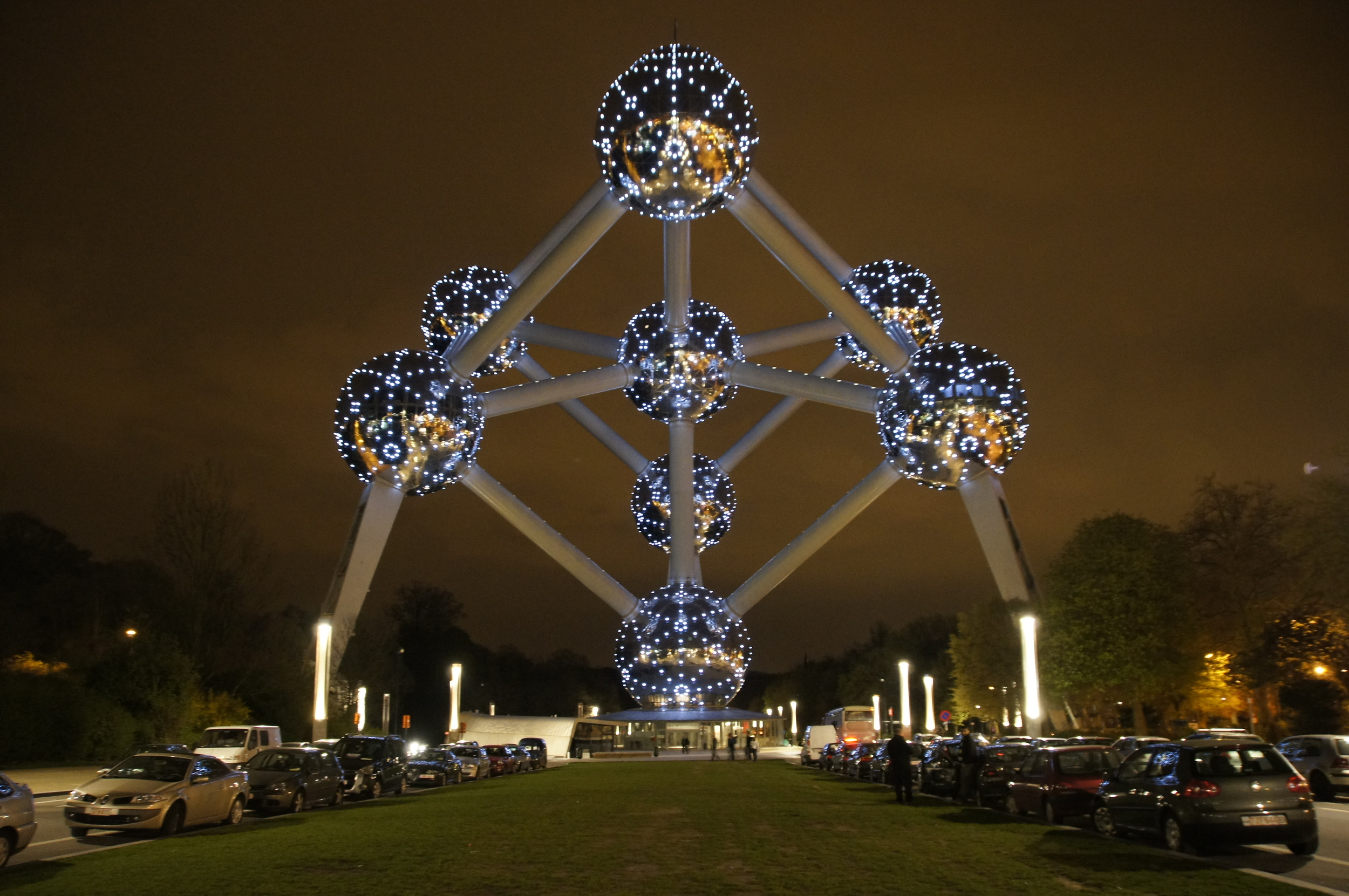 Brussels' Atomium by night - it reopened on Tuesday. Image credit:    Niels Mickers   /Flickr