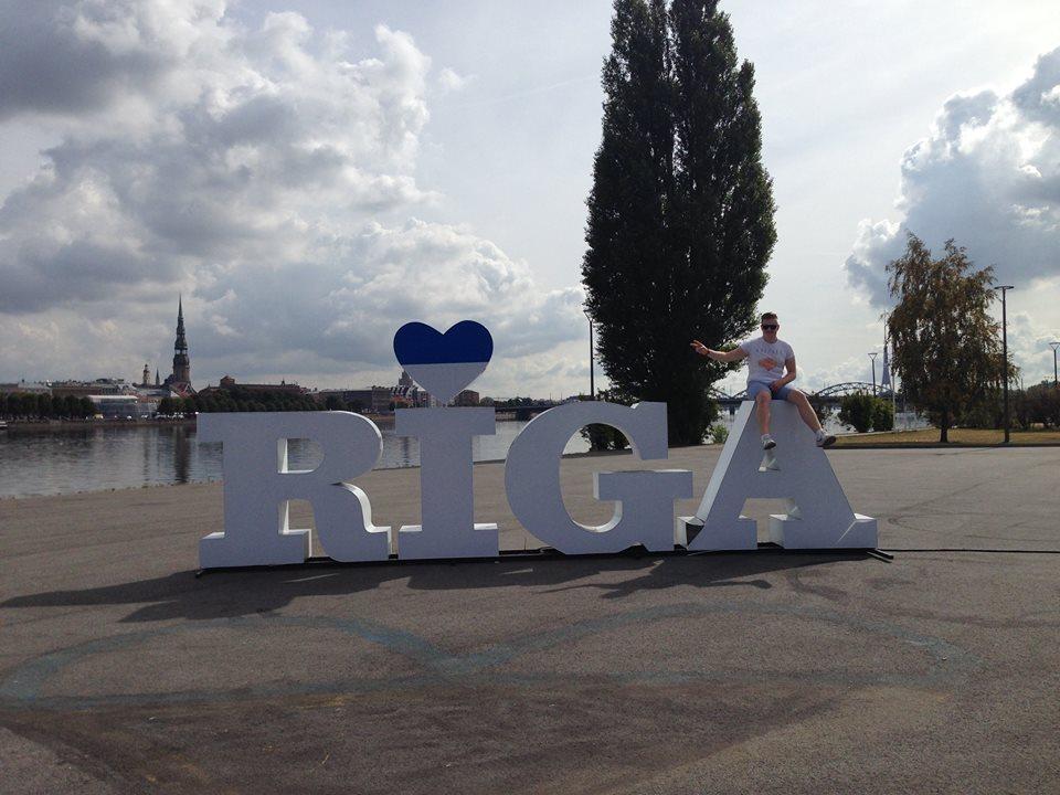 Don't miss out on the opportunity to get a snap at the Riga sign!