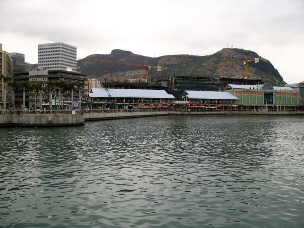 The port at Port Louis.