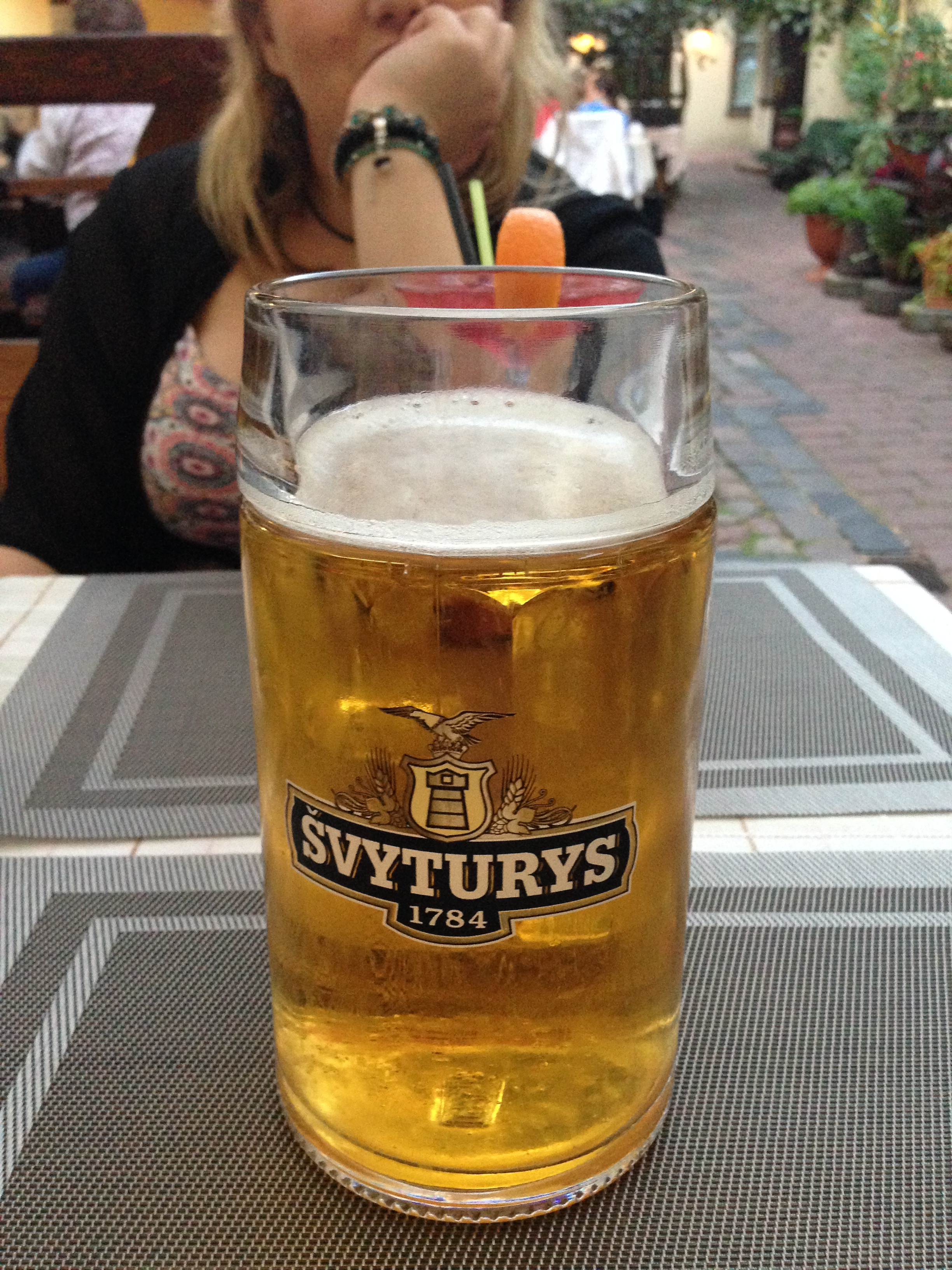 This cheap stein of Svyturys went down especially well after finding out its price.