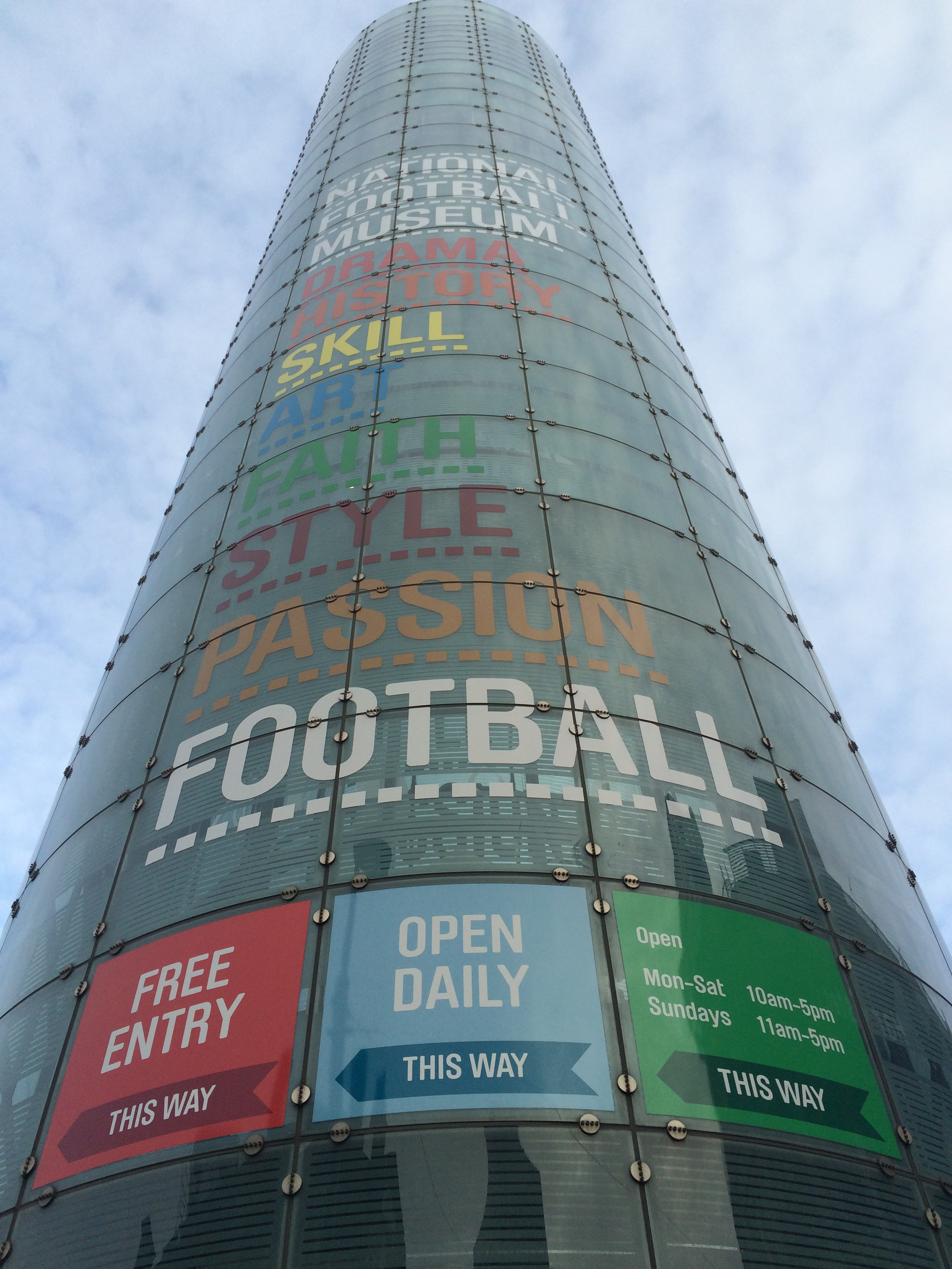 The Urbis building used to contain a Manchester-themed museum before the National Football Museum moved there from Preston North End's Deepdale stadium.