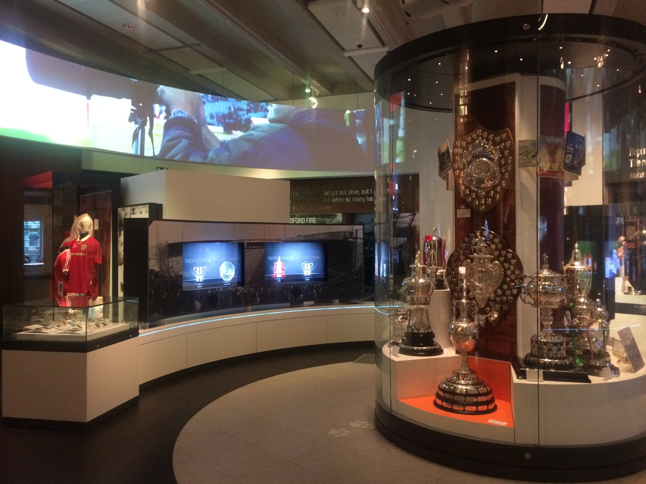 A selection of silverware and memorabilia on display on the first floor.