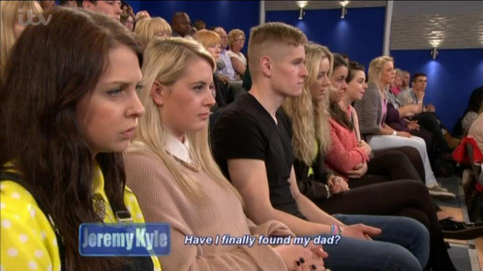 Me at a Jeremy Kyle recording, the third from the left. It was A LOT better than I expected. In fact, I'd highly recommend going.