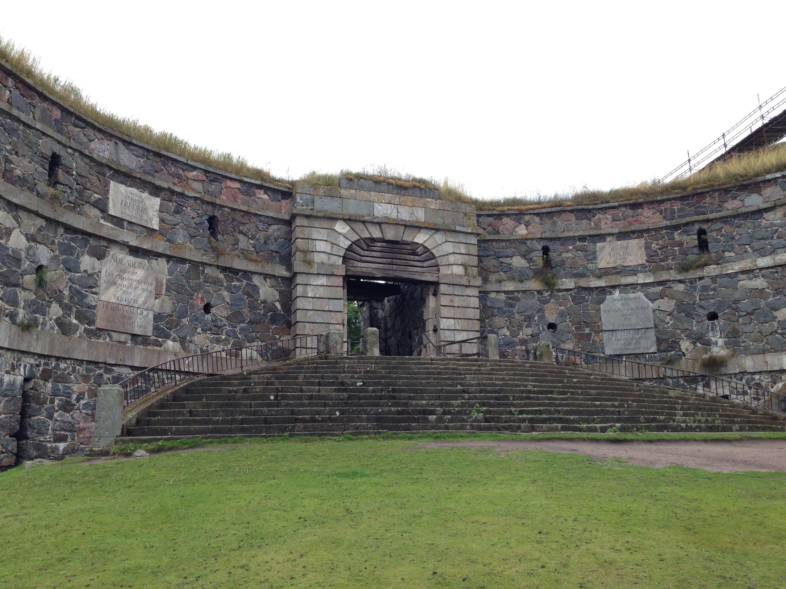 King's Gate at Suomenlinna - the sea fortress' proper entrance.