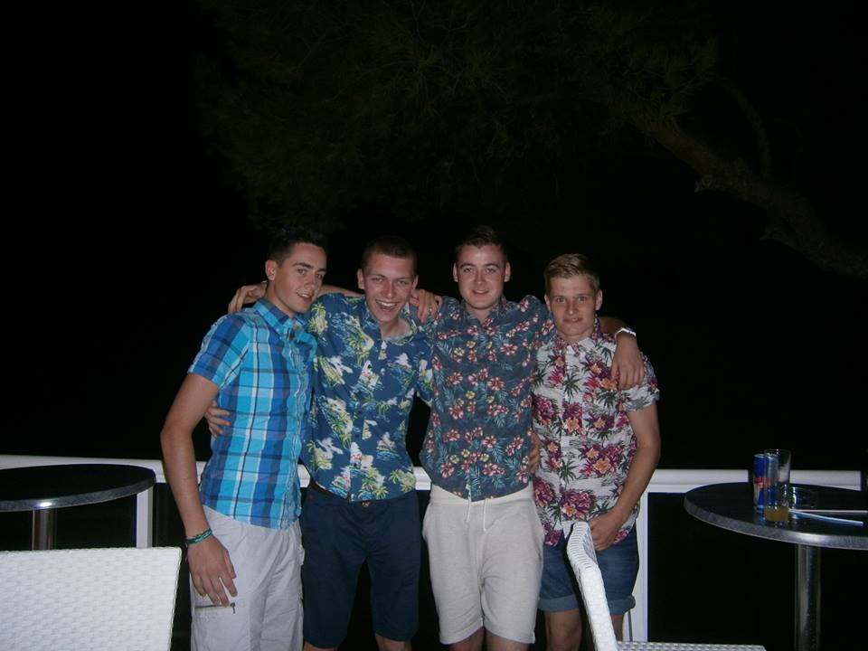 Repping Hawaiian shirts in Magaluf in 2013.