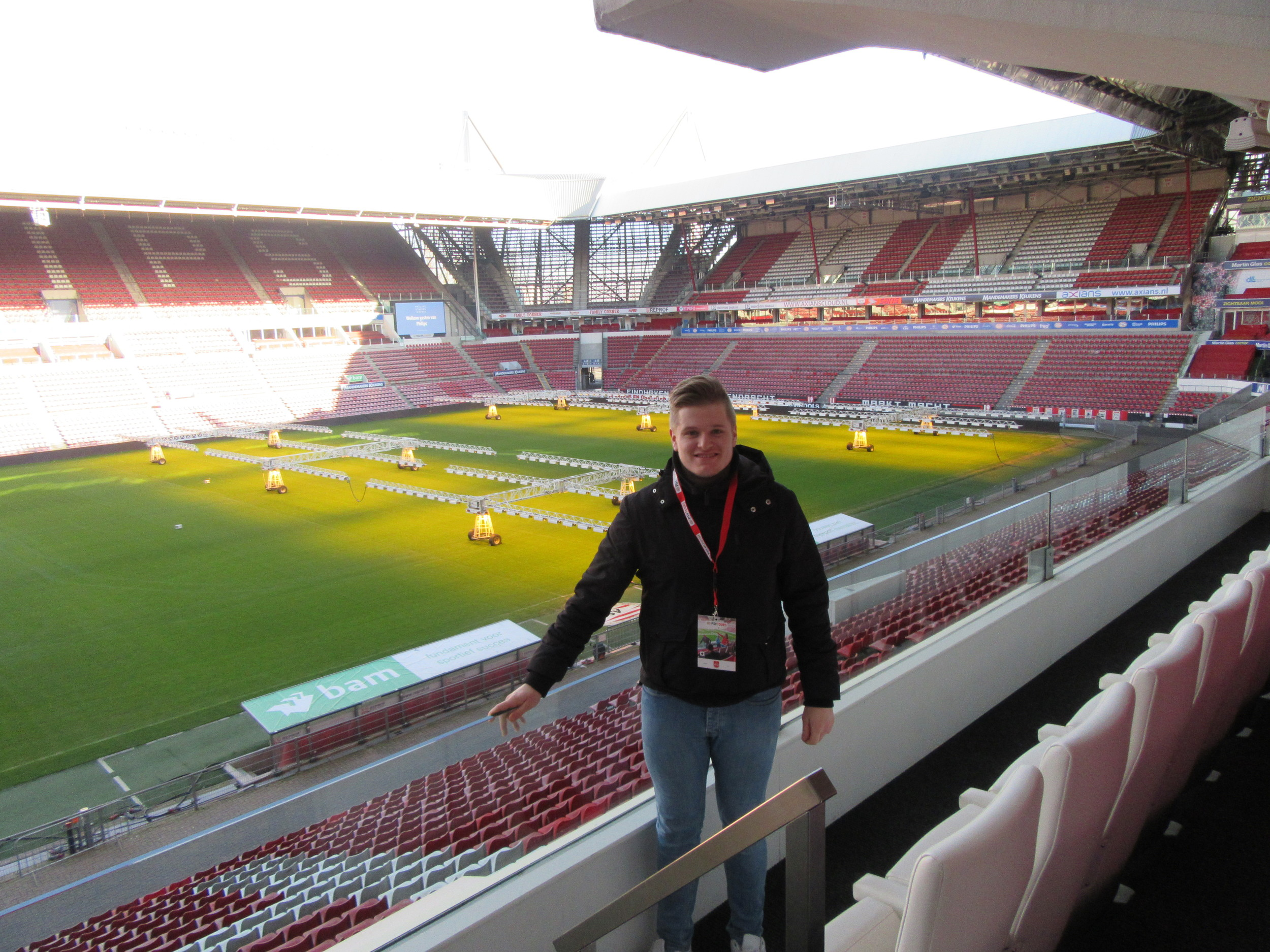 The view from the VIP boxes at Philips Stadion, which you get to see on the tour.