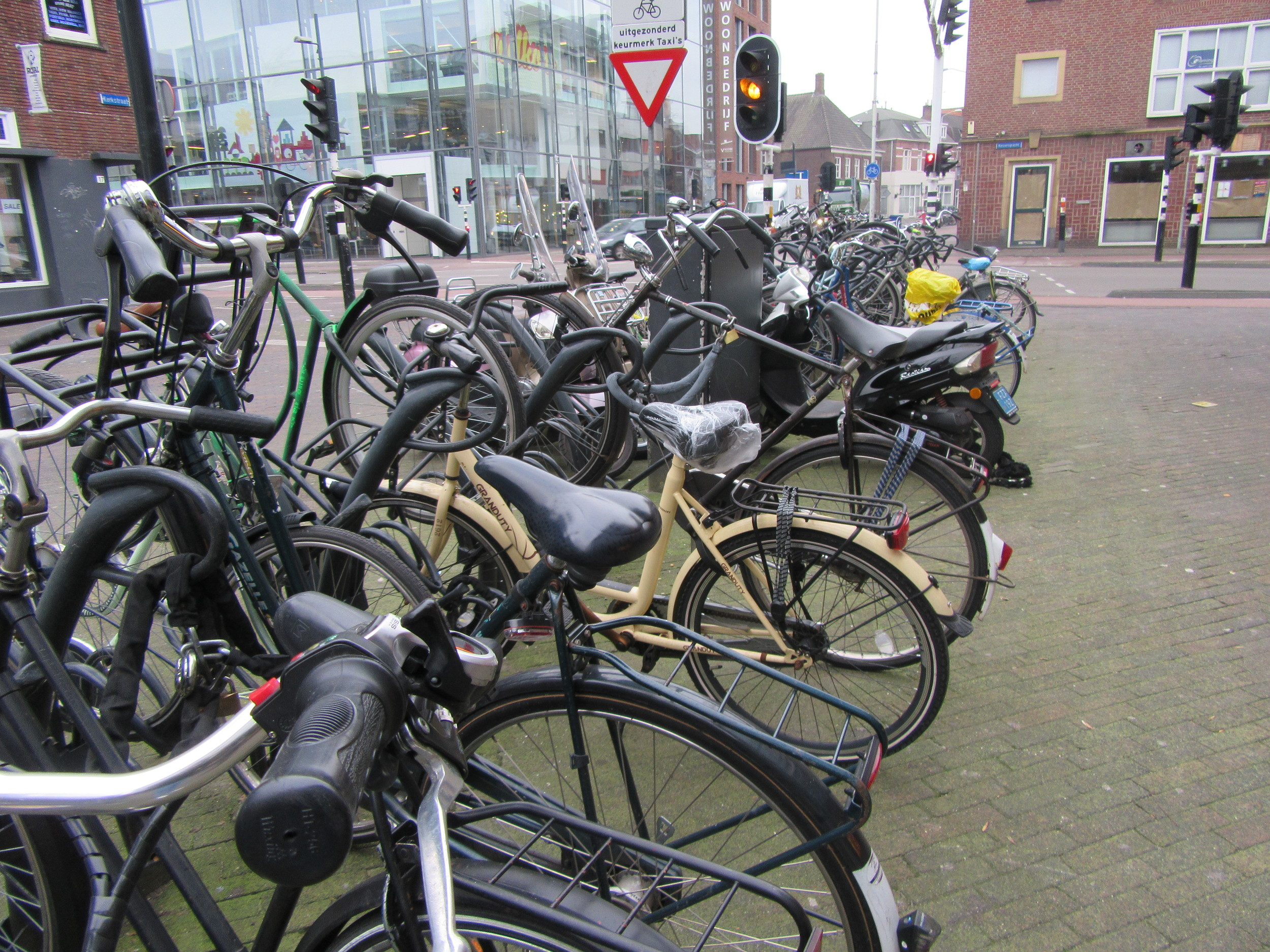Bikes, bikes and more bikes. Great for locals, a nightmare for tourists.