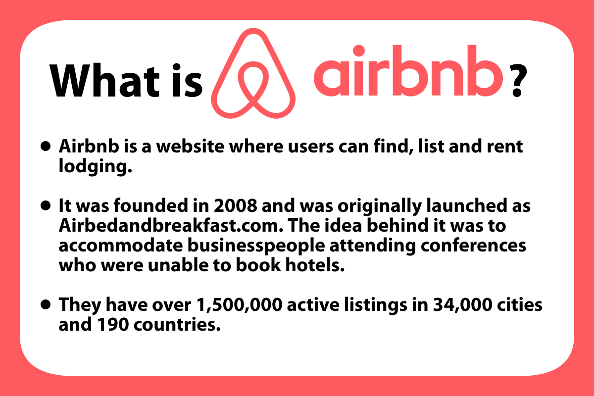 A reminder as to what Airbnb is