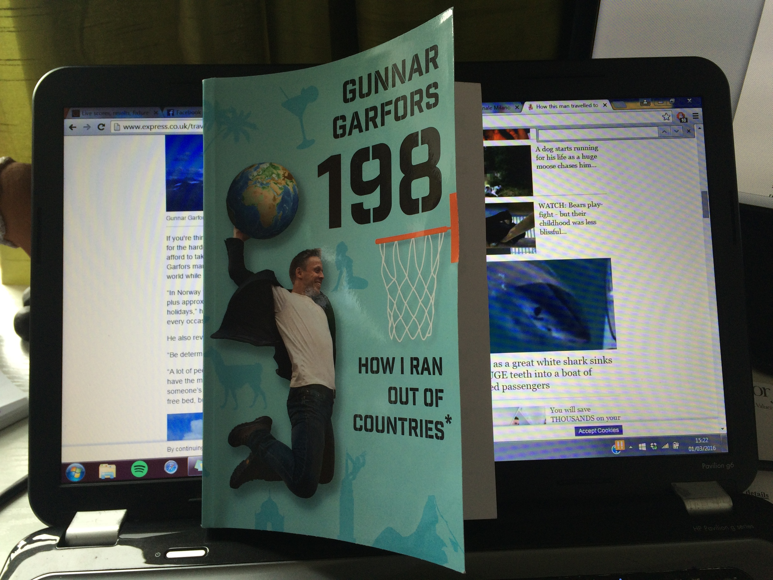 Currently reading: Gunnar Garfors' 198: How I ran out of countries*. I'm yet to finish it, but I highly recommend it based on what I've read so far.