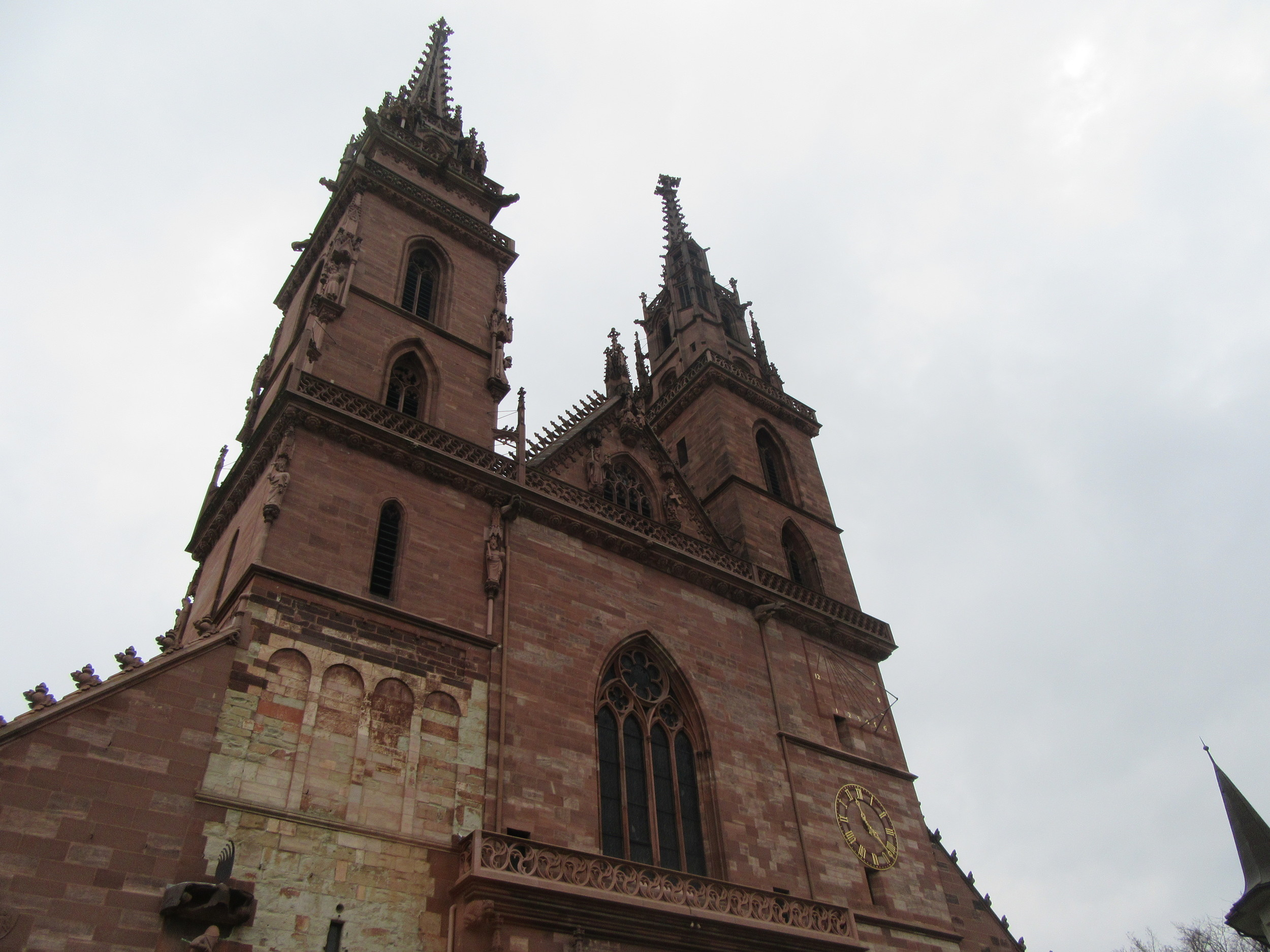 Basel Minster's exterior.