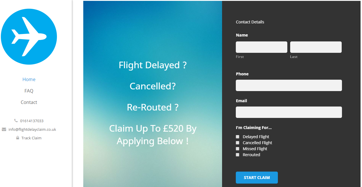 Flight Delay Claim's simple application form ensures a stress-free way to make a claim.