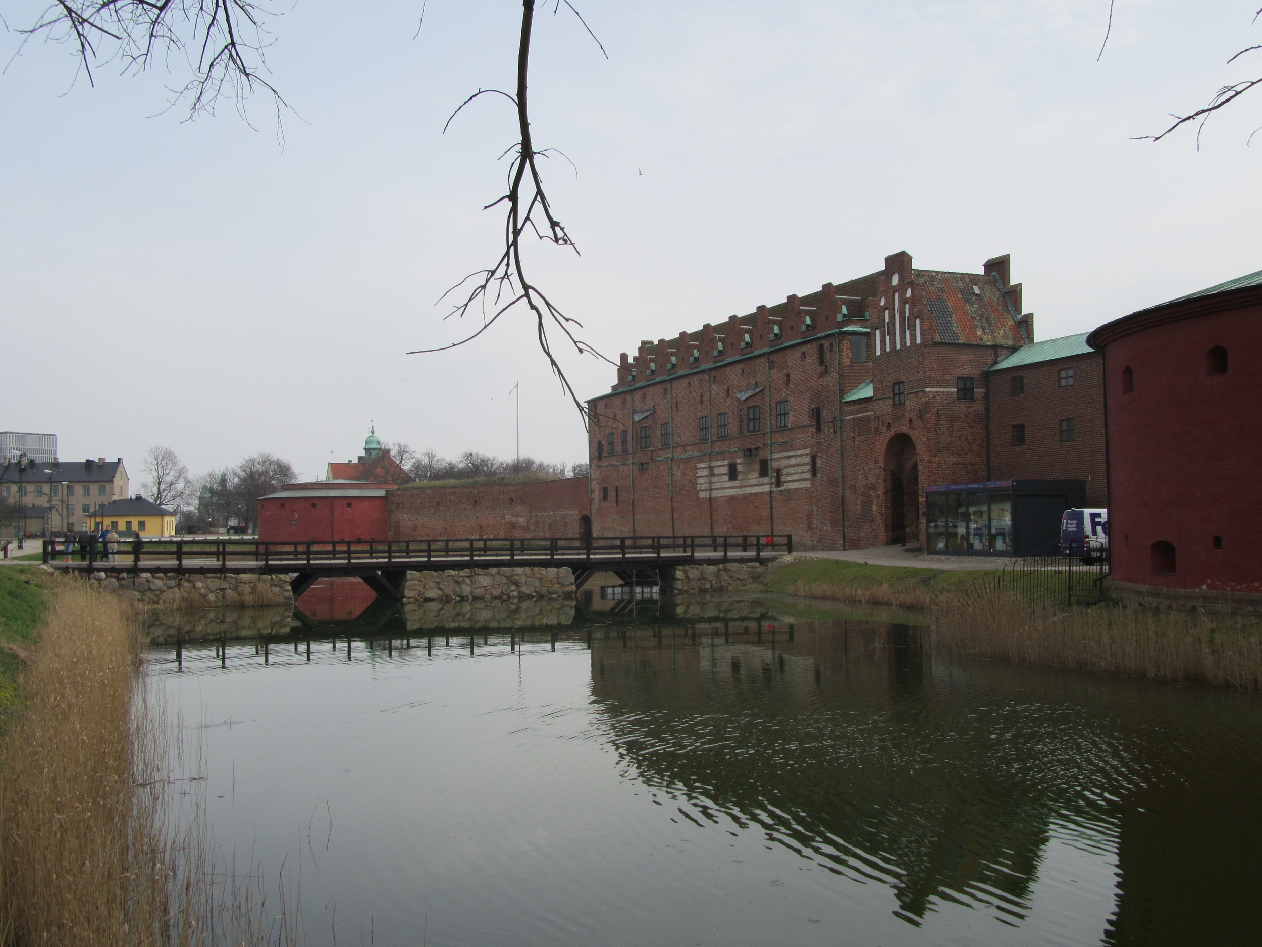 The moat around Malmö Castle.