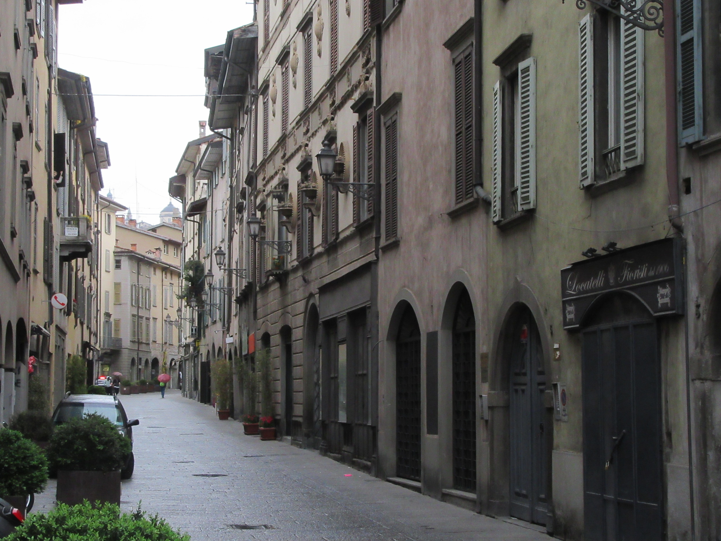 One of the streets in Bergamo. A slice of traditional Italy.