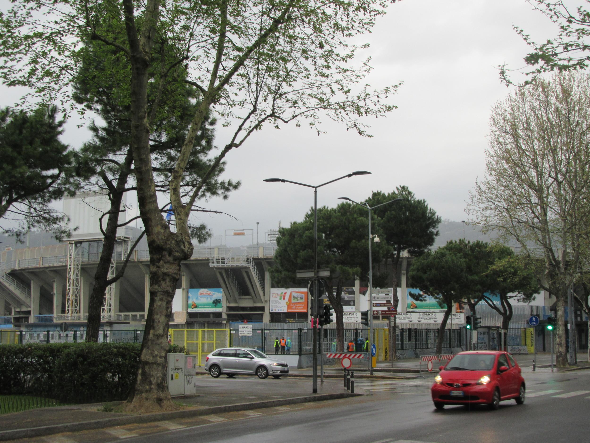 The exterior of the Stadio Atleti Azzurri d'Italia.