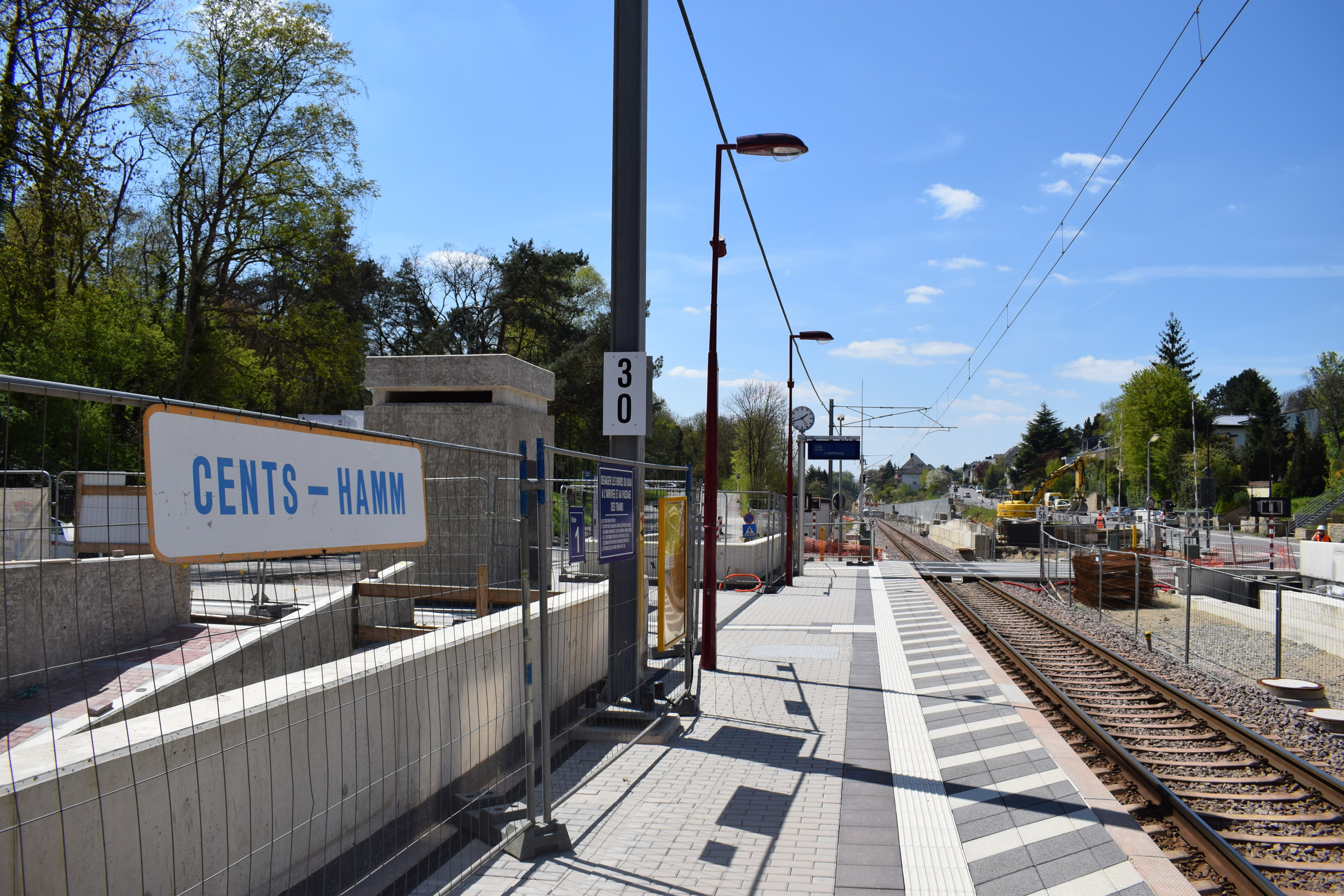 Cents-Hamm railway station, just one stop up from Luxembourg City's central station.