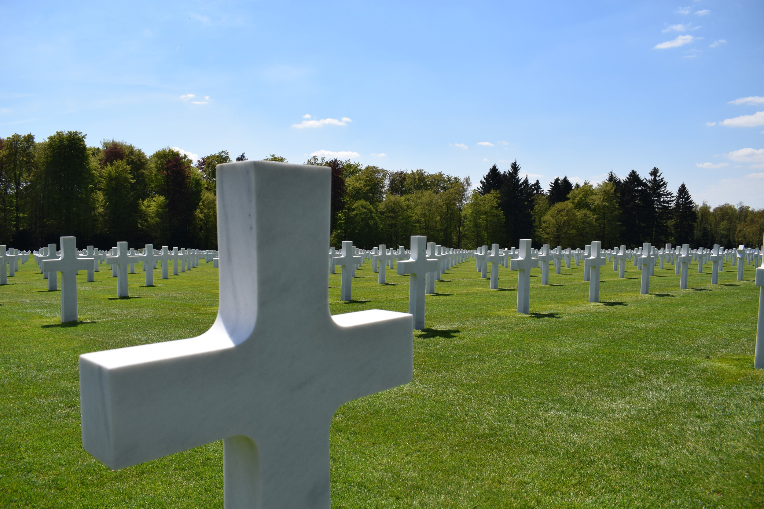 Rows and rows of marble graves take up much of the 50.5 acres of land at the cemetery.