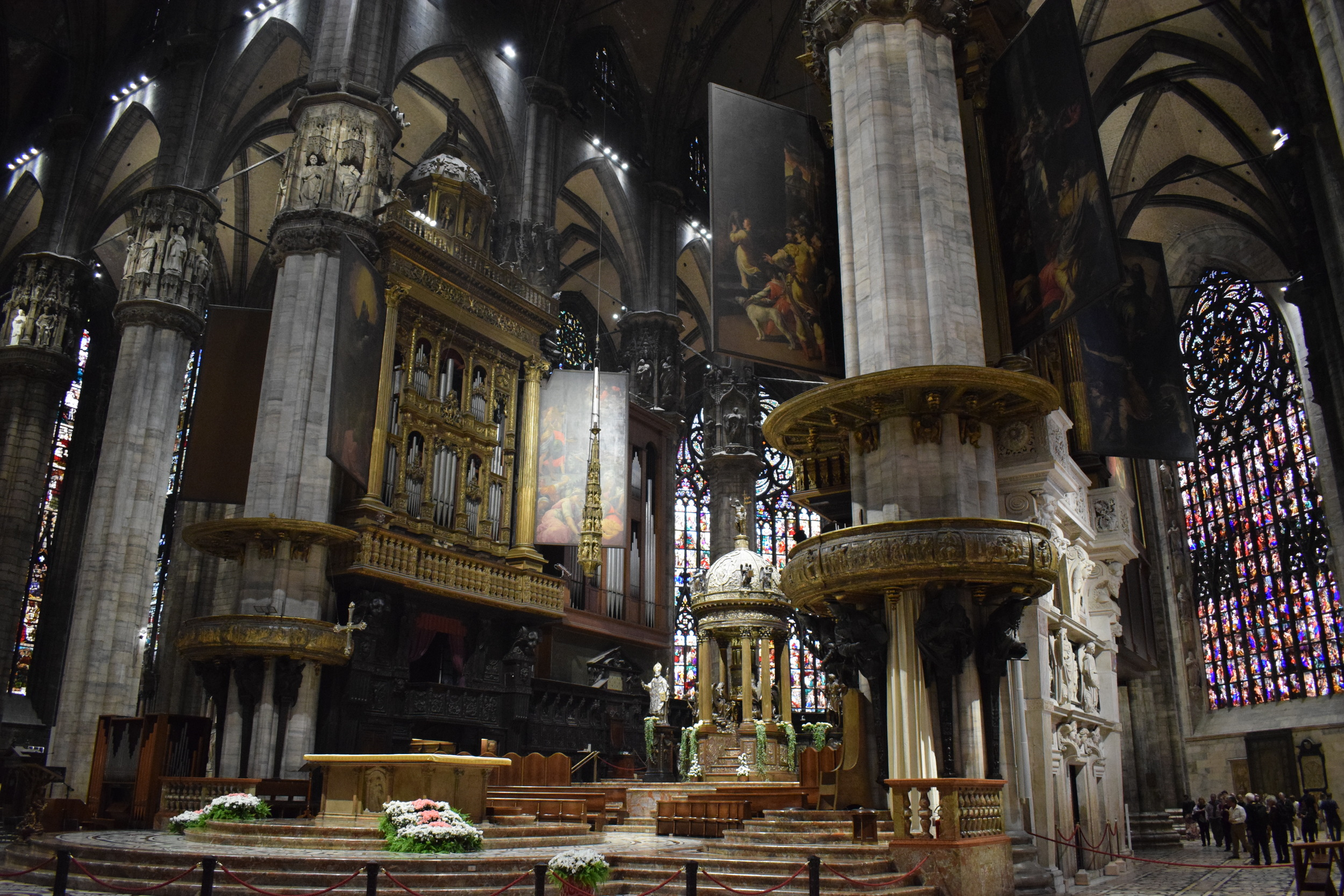 The altar at Milan Cathedral. While it isn't extravagant, it certainly is grand.