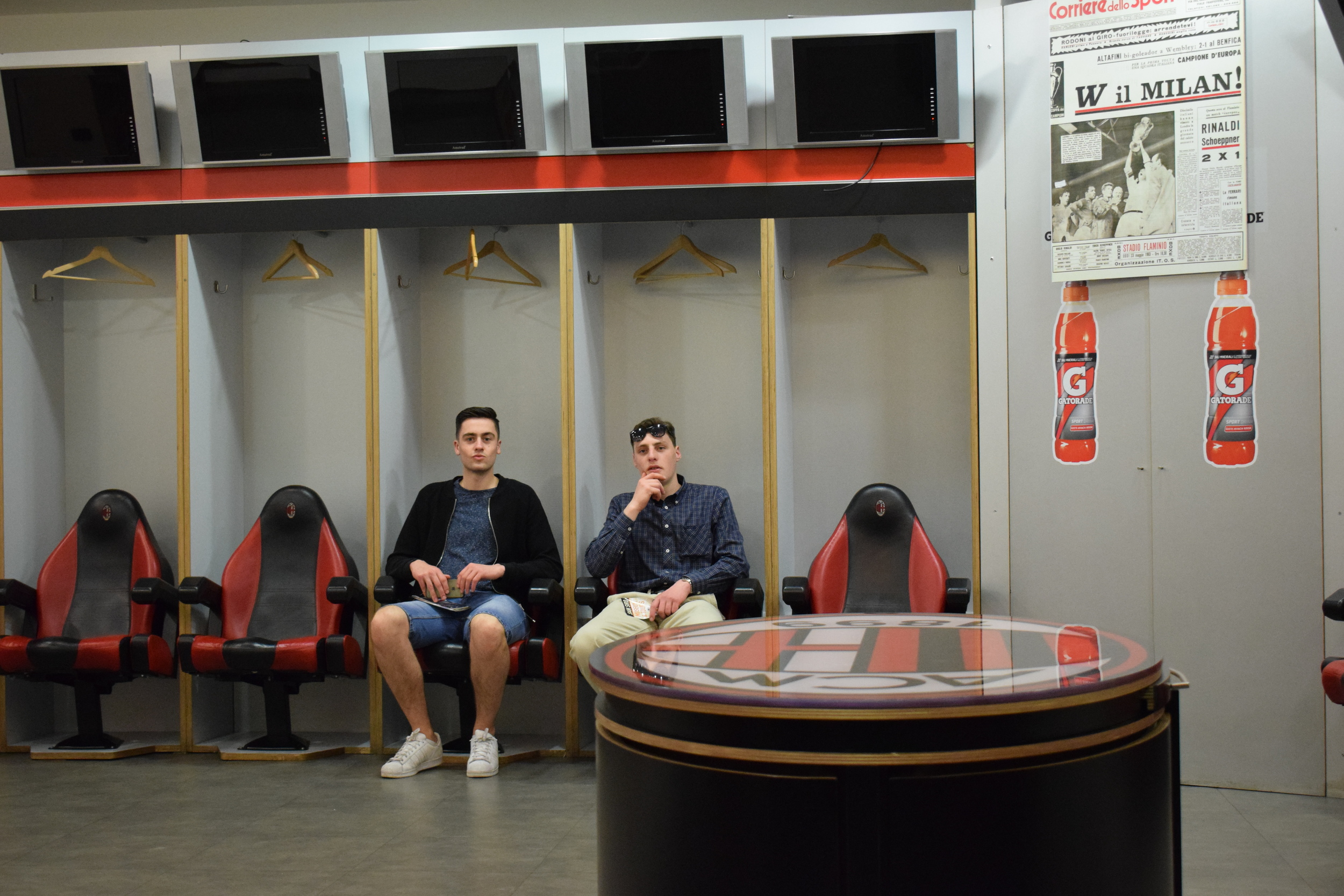 The AC dressing room.