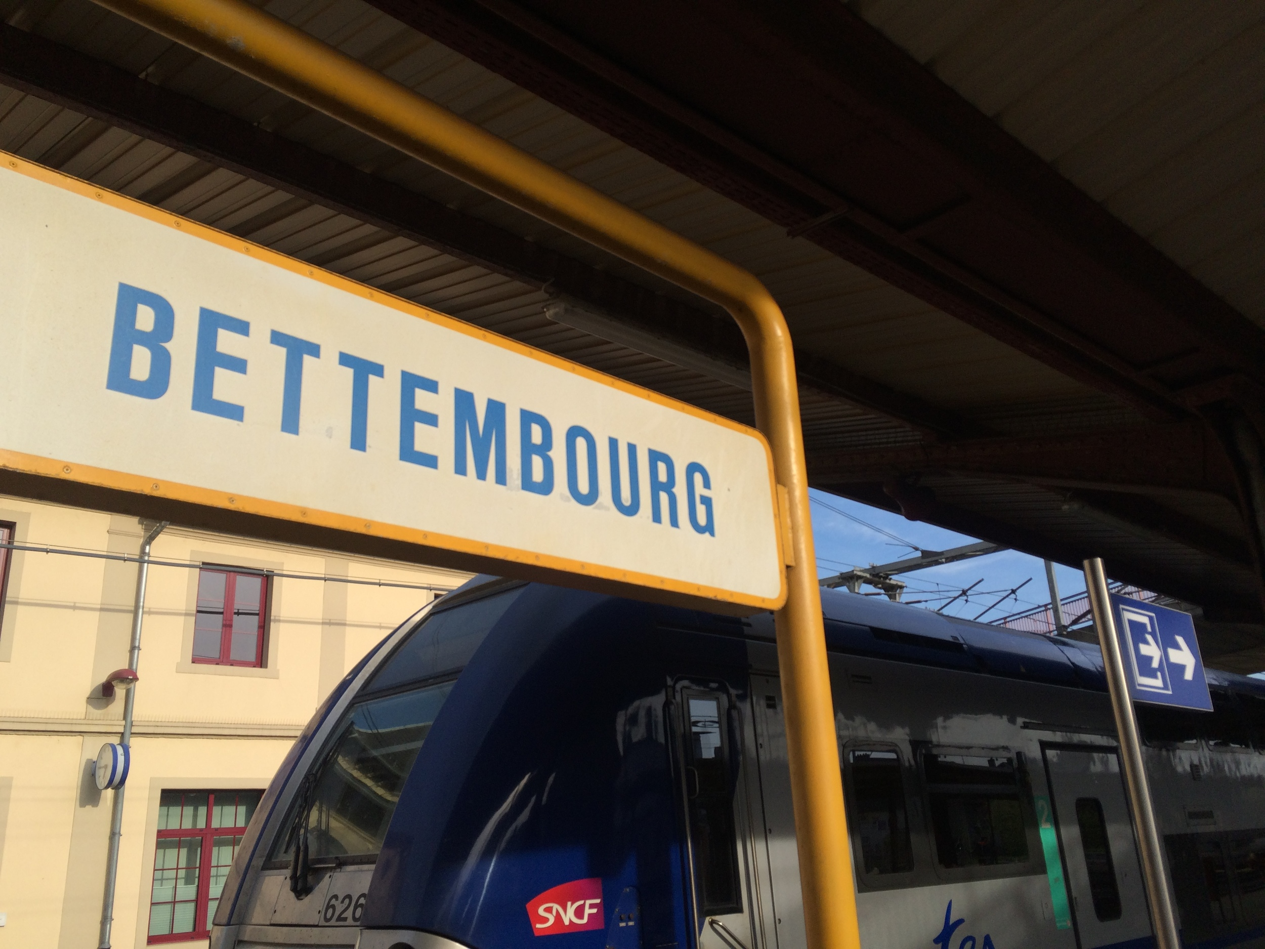 Arrival at Bettembourg train station.
