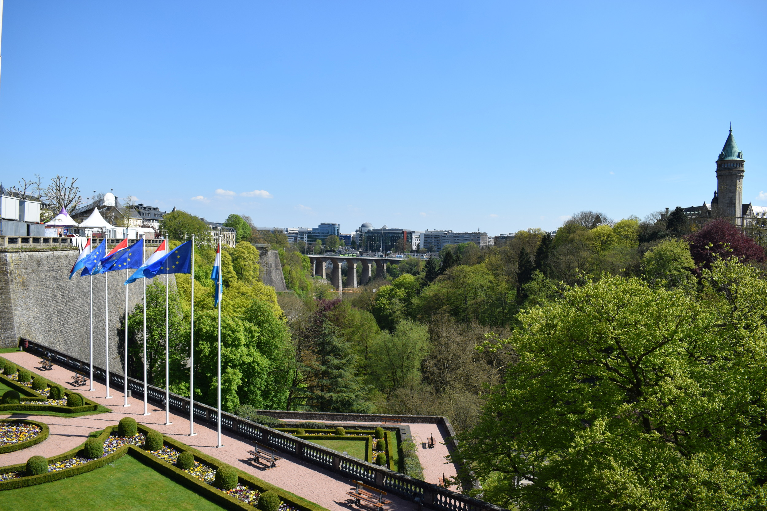 Exploring Luxembourg City in the day.