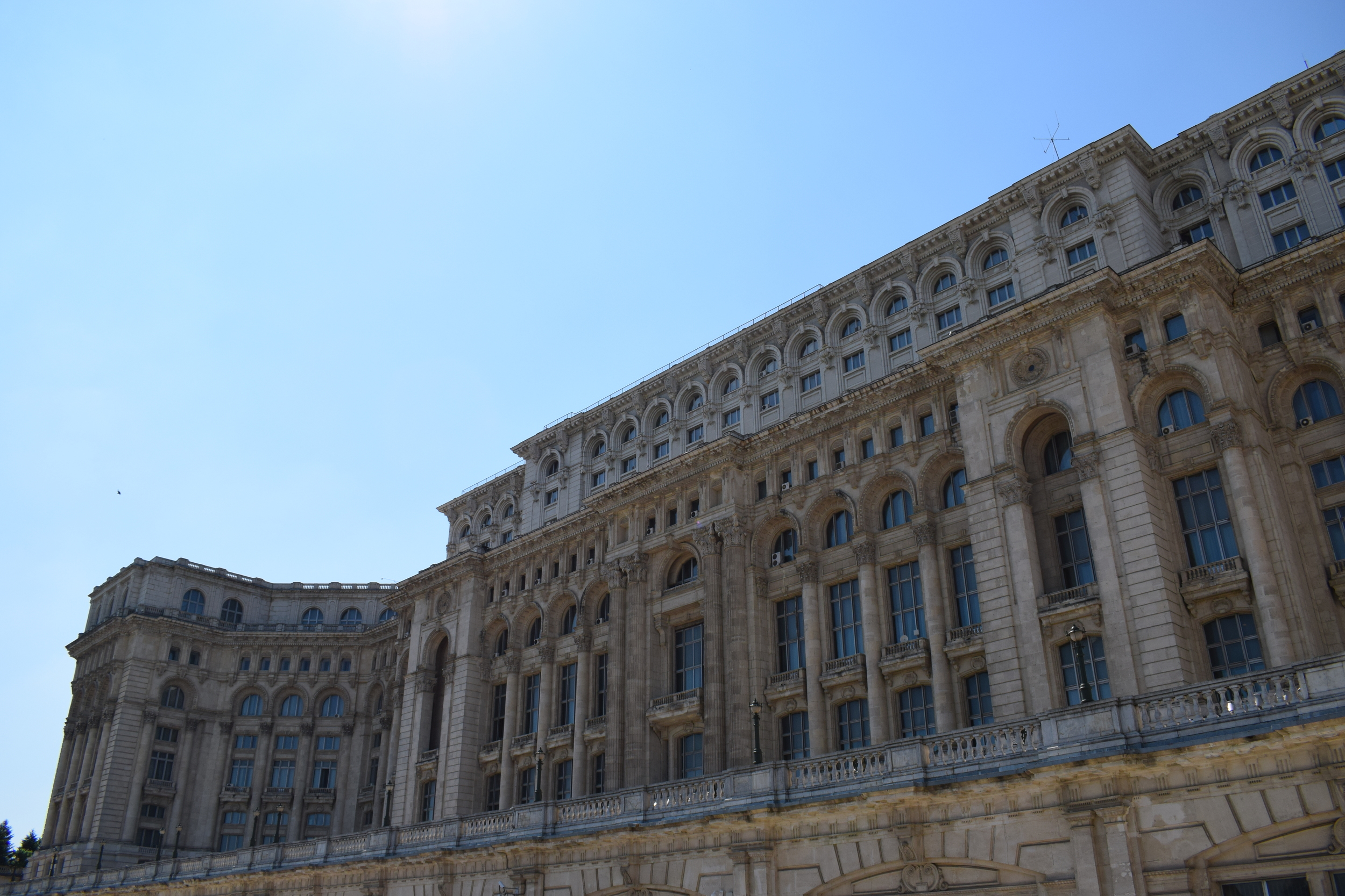 The sheer size of Bucharest's Palace of the Parliament is breathtaking.