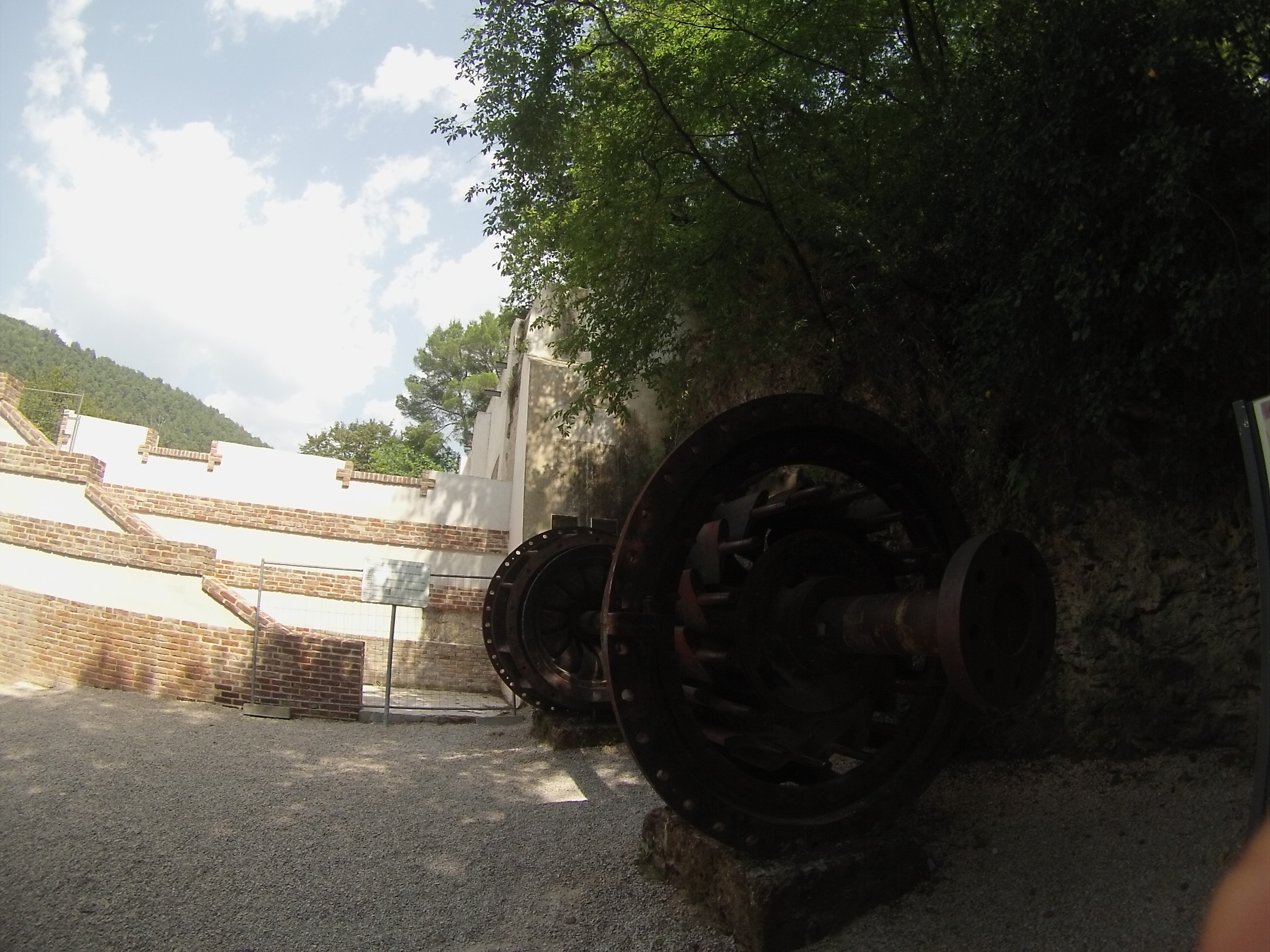 One of the old turbines at Jaruga Hydroelectric Power Plant.