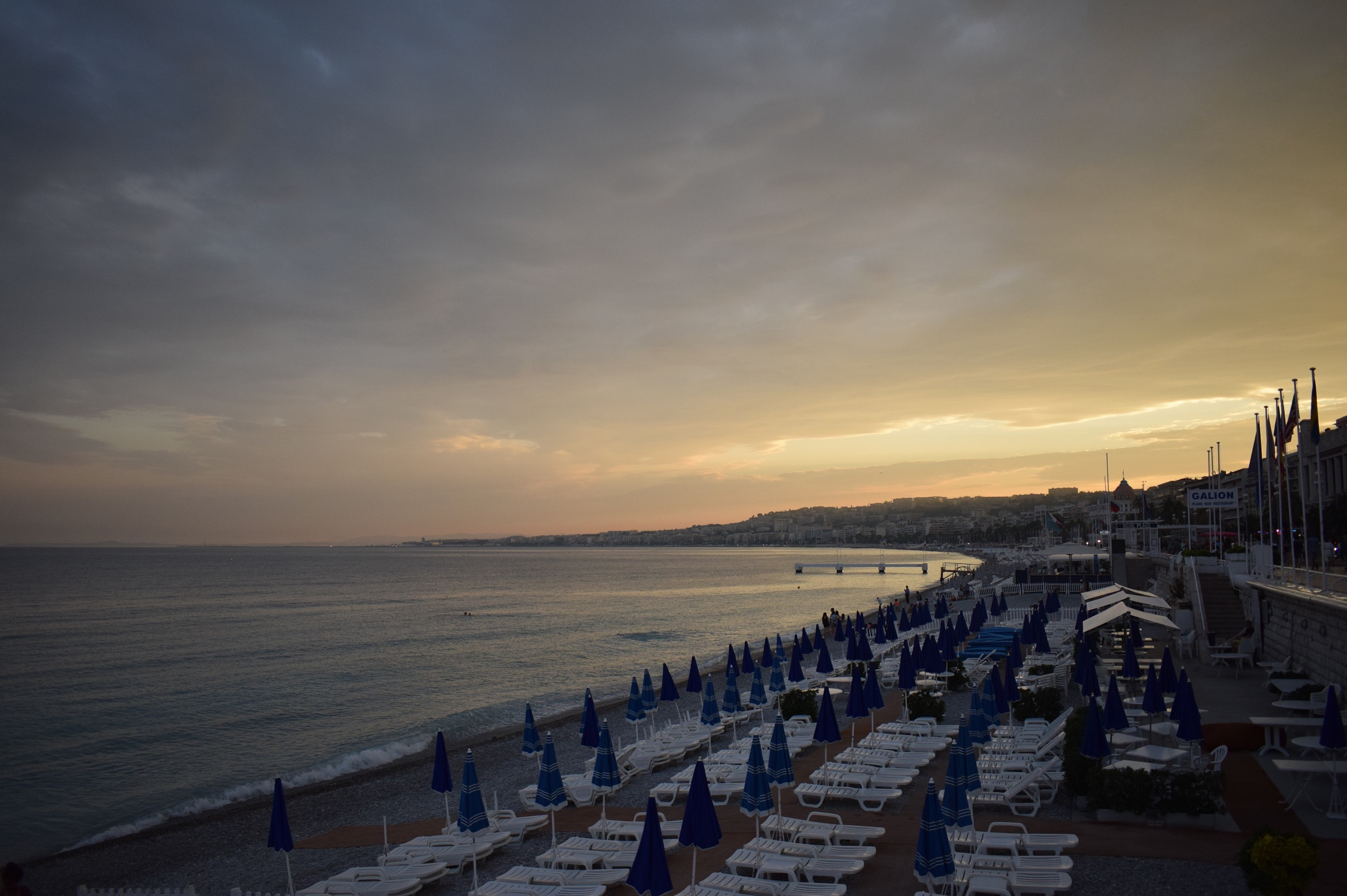 The Promenade des Anglais in Nice, France. Part of the Côte d'Azur.