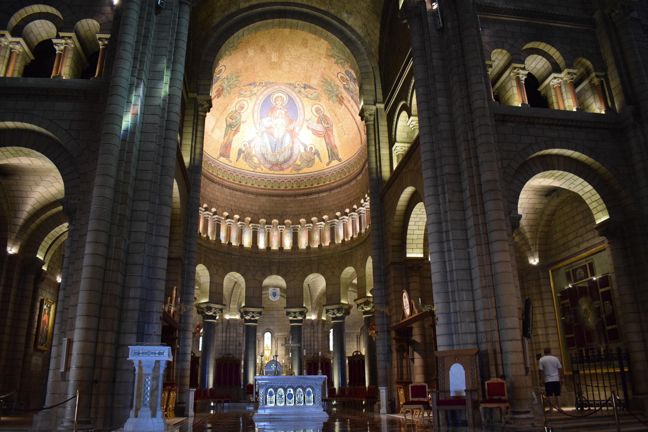 Inside Monaco Cathedral.