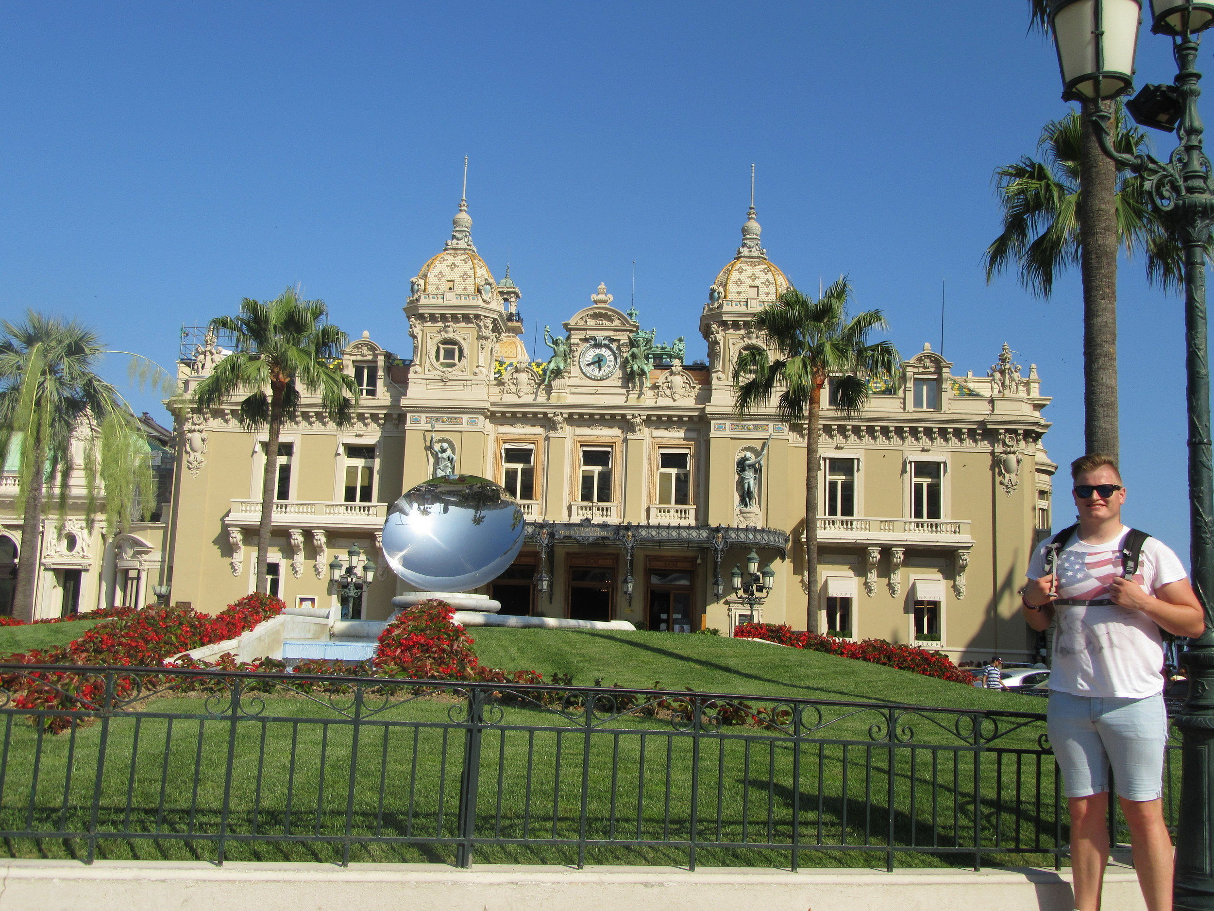 Stood in front of the world-famous Monte-Carlo Casino.