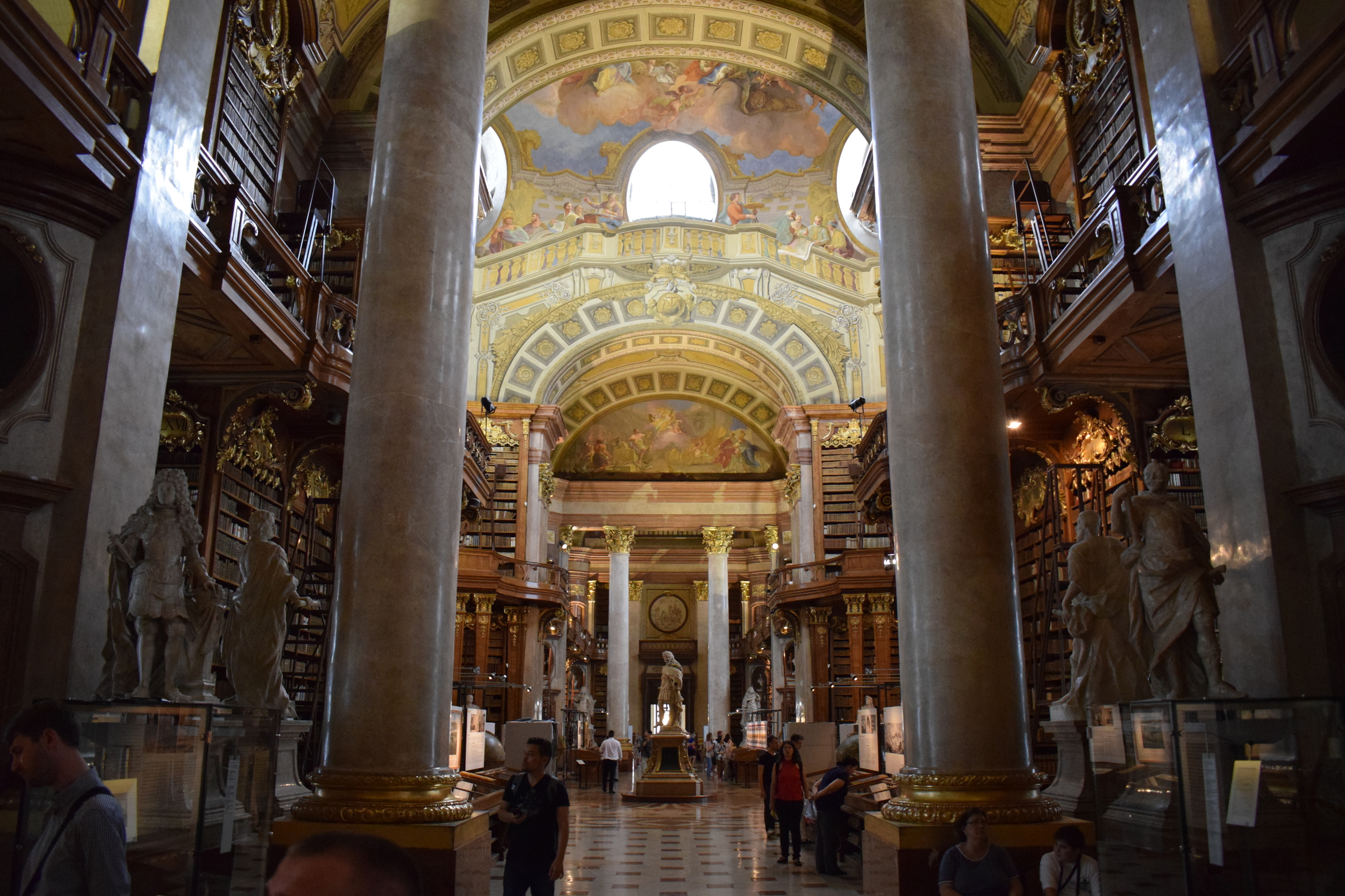 The amazing State Hall at the Austrian National Library.