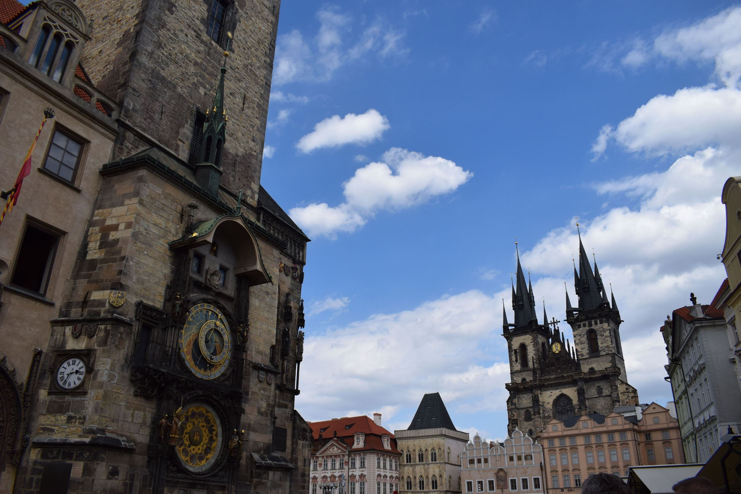 The Astronomical Clock and Tyn Church are two of Prague's most recognisable landmarks.