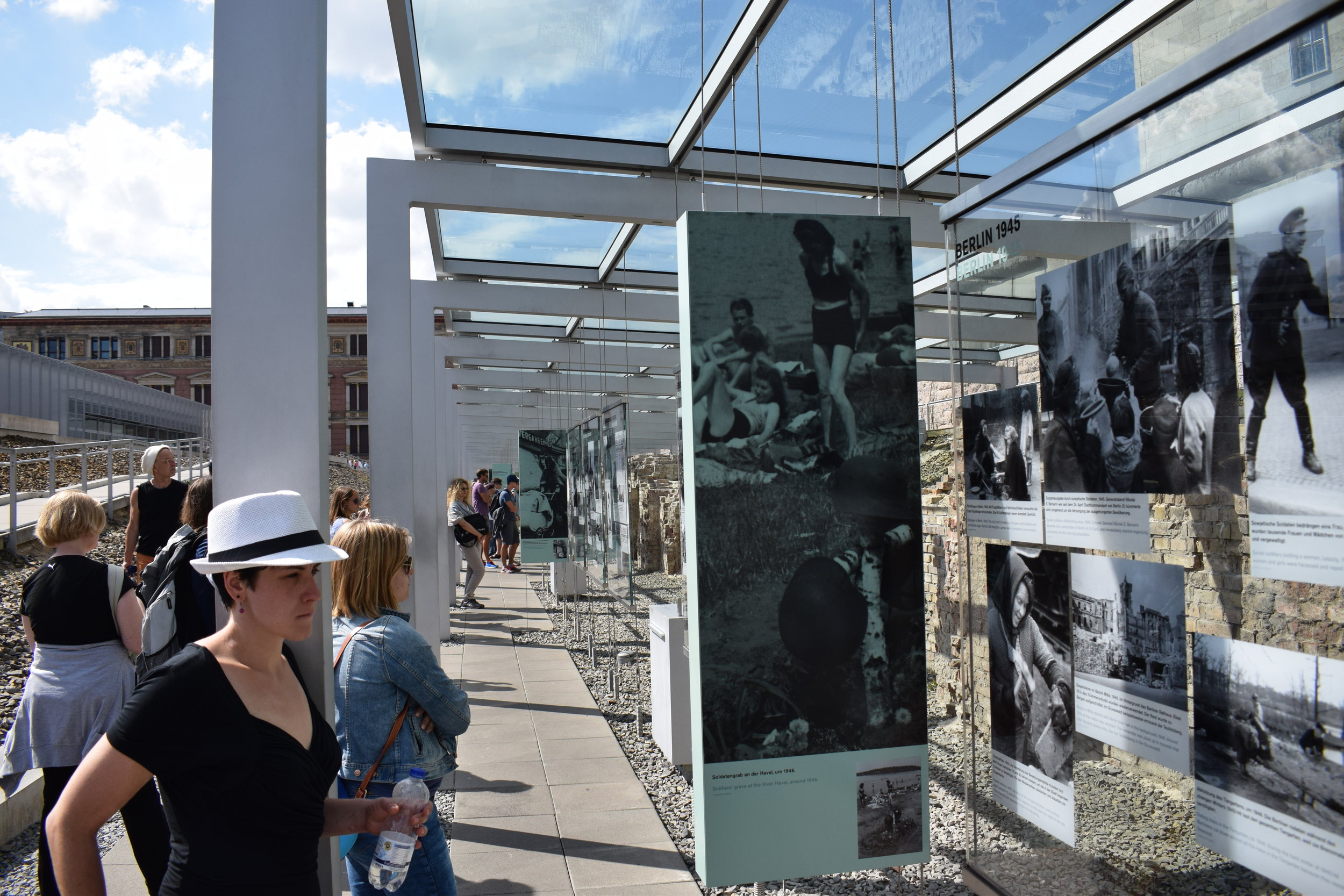 An outdoor exhibit at the Topography of Terror.