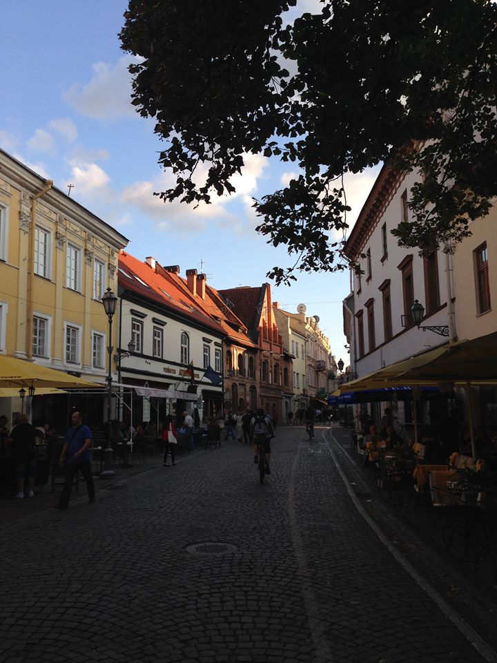 Pilies Street is one of Vilnius' main streets, containing an abundance of cafés, restaurants and bars.