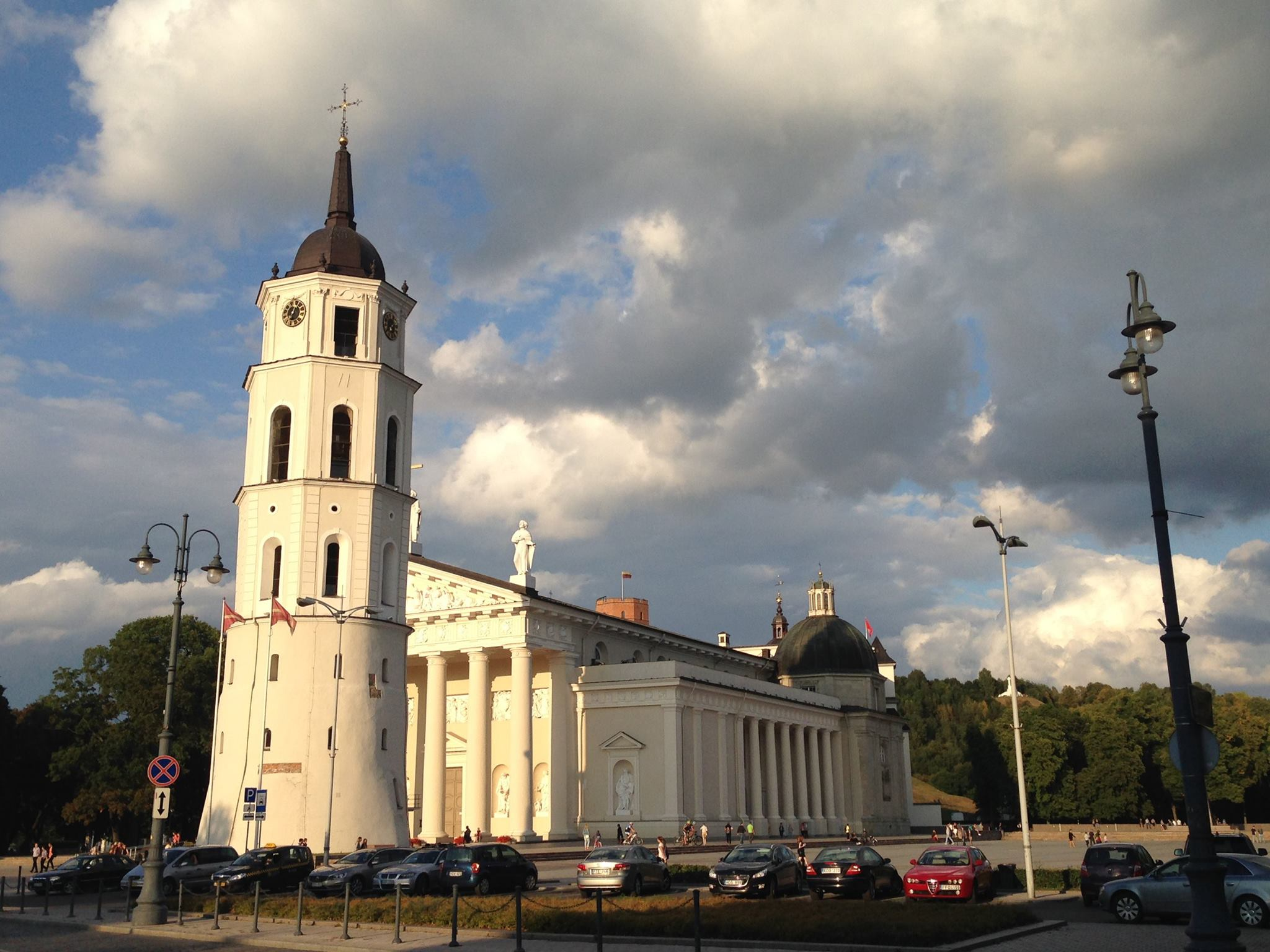 Vilnius Cathedral is one of the main sights in the Lithuanian capital as is sits at the end of both Pilies Street and Gediminas Avenue.
