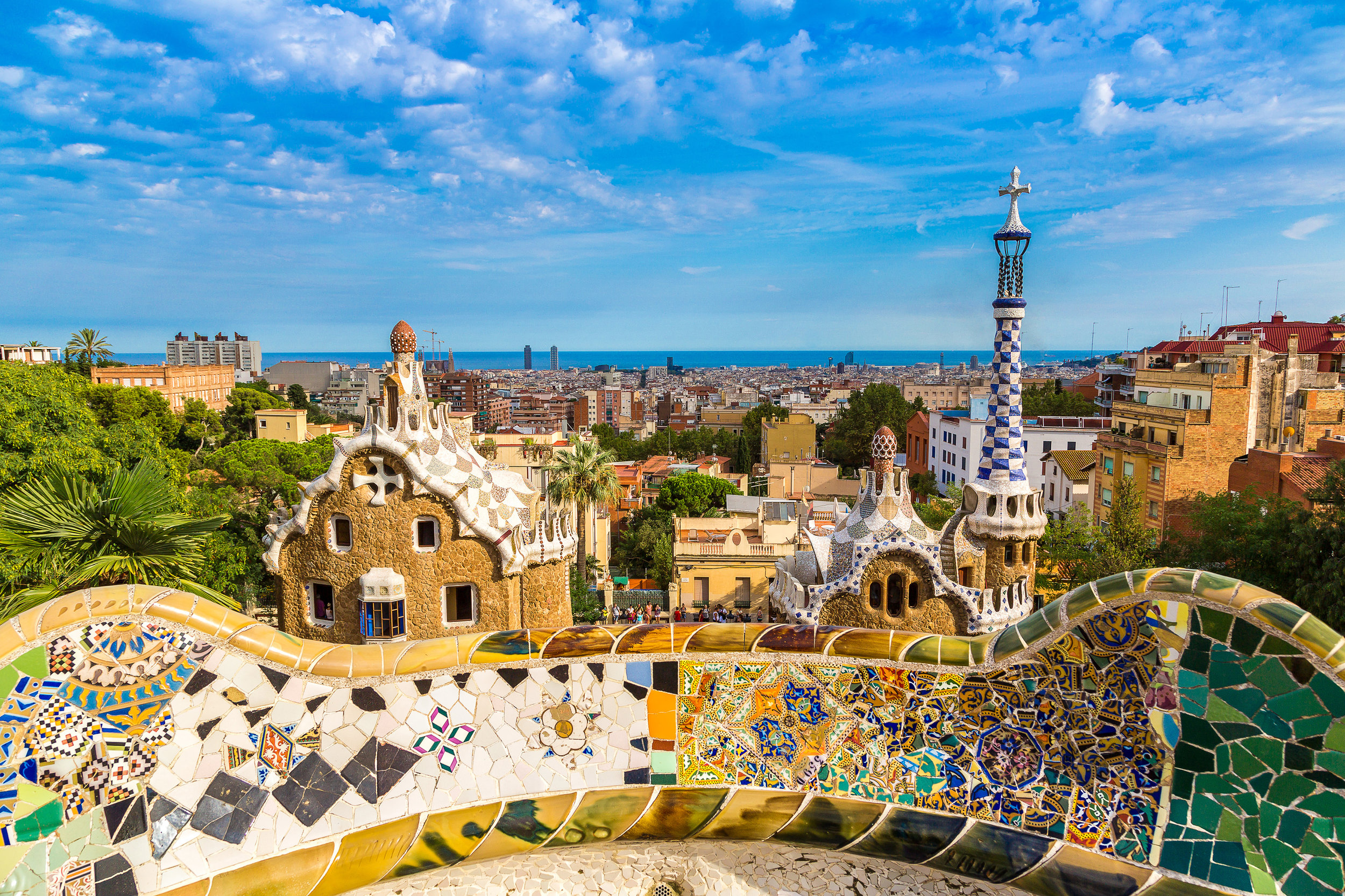 Visit the Sagrada Familia, head on over to the Nou Camp or soak in the views from Park Güell (pictured) in Barcelona - one of the latest additions to the CityUnscripted map.