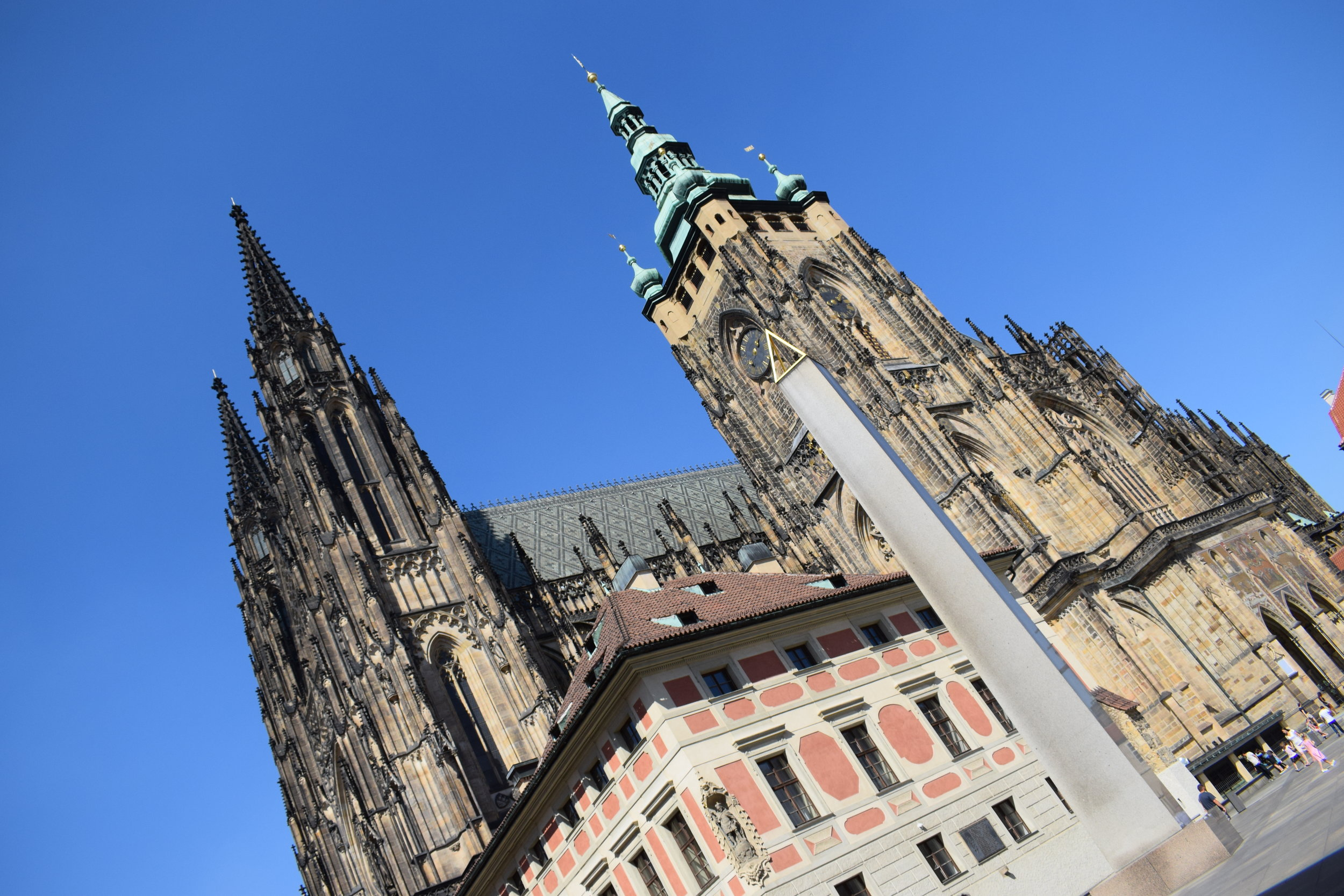 St Vitus' Cathedral stands tall over the rest of Prague Castle.