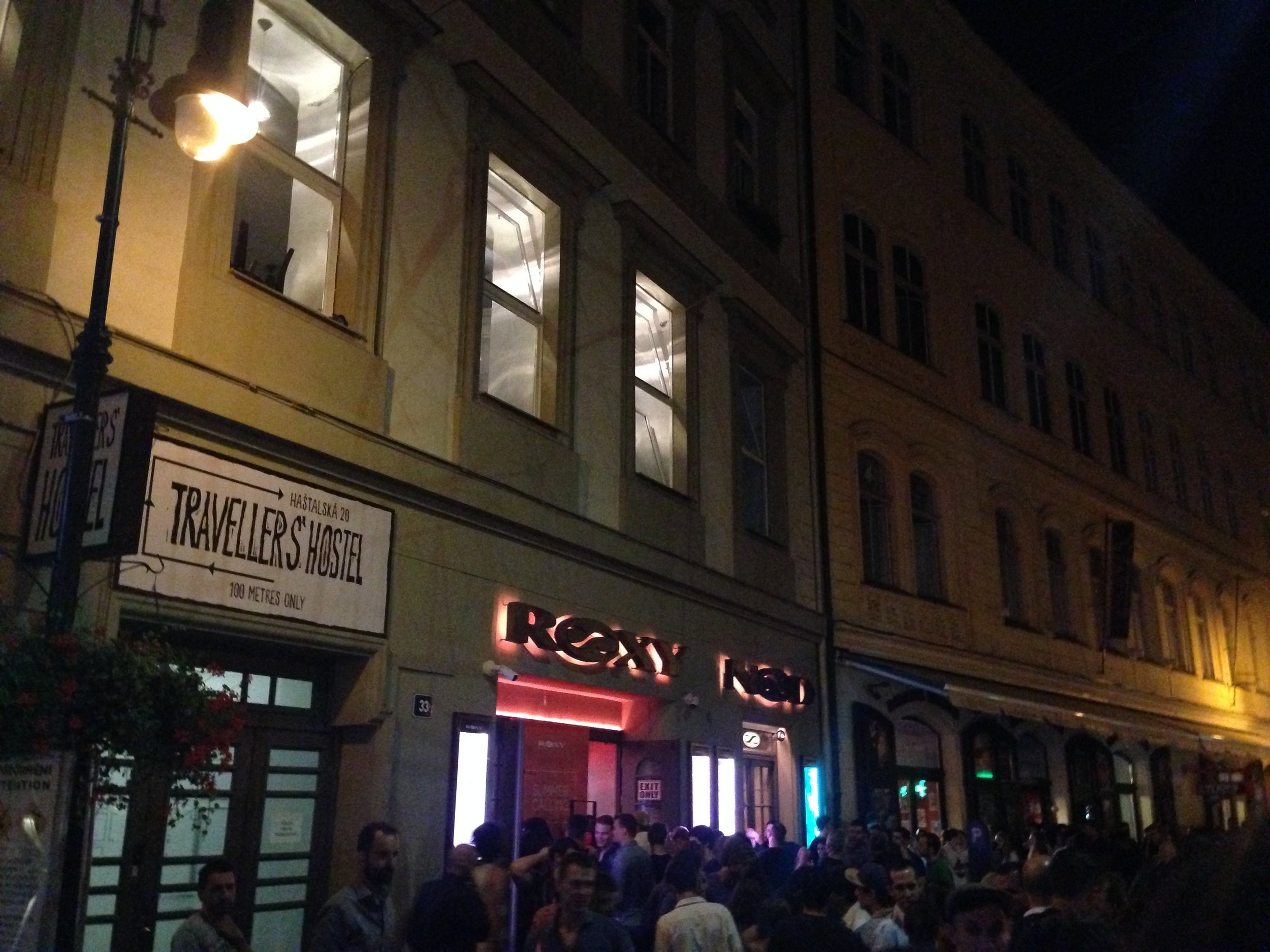 Queuing up to get into Roxy on a Friday night. As you can see from the crowds it is a hotspot for partygoers.