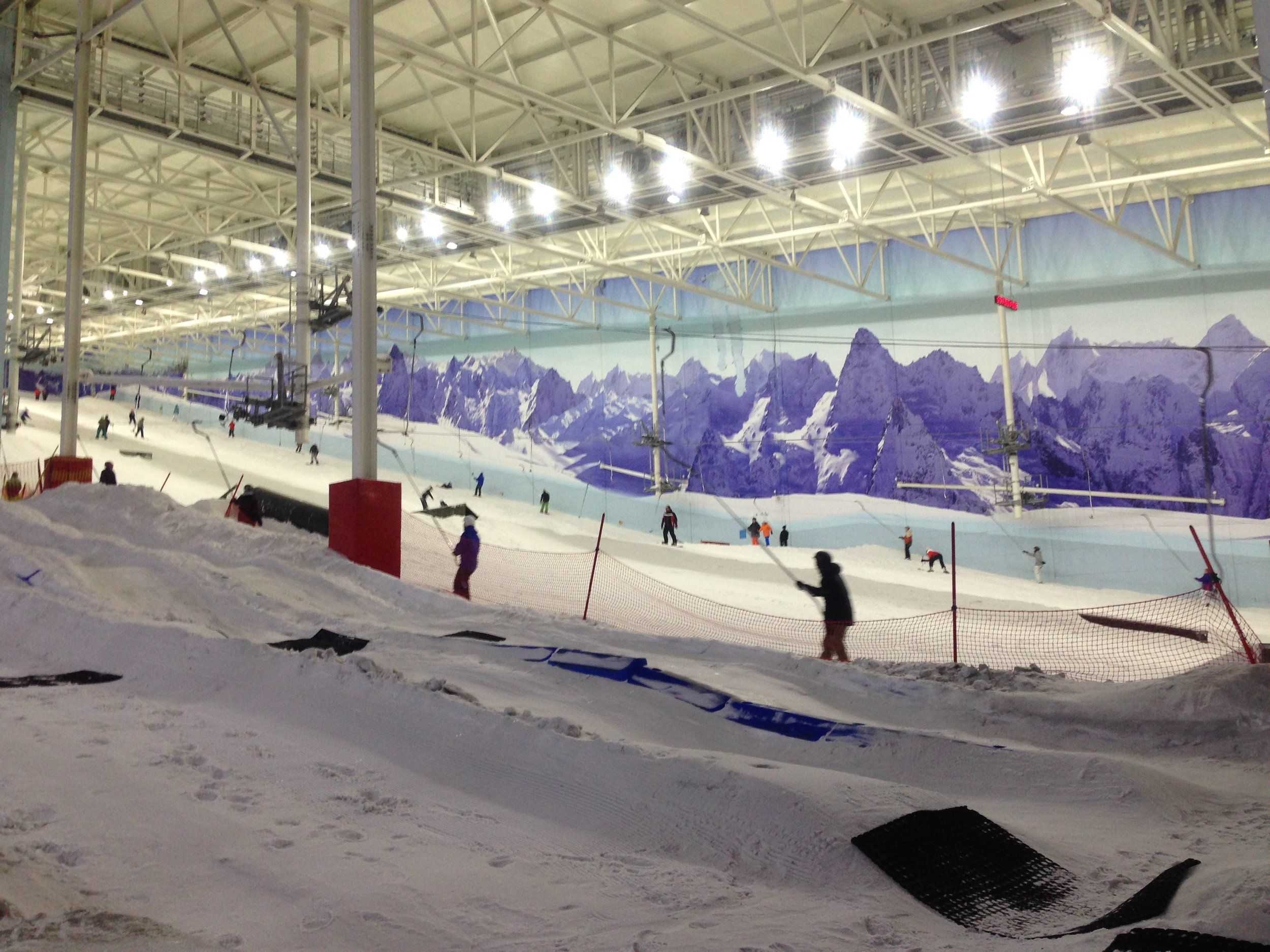 The advanced slope, where the more experienced members of the group went after getting their complimentary lift passes.