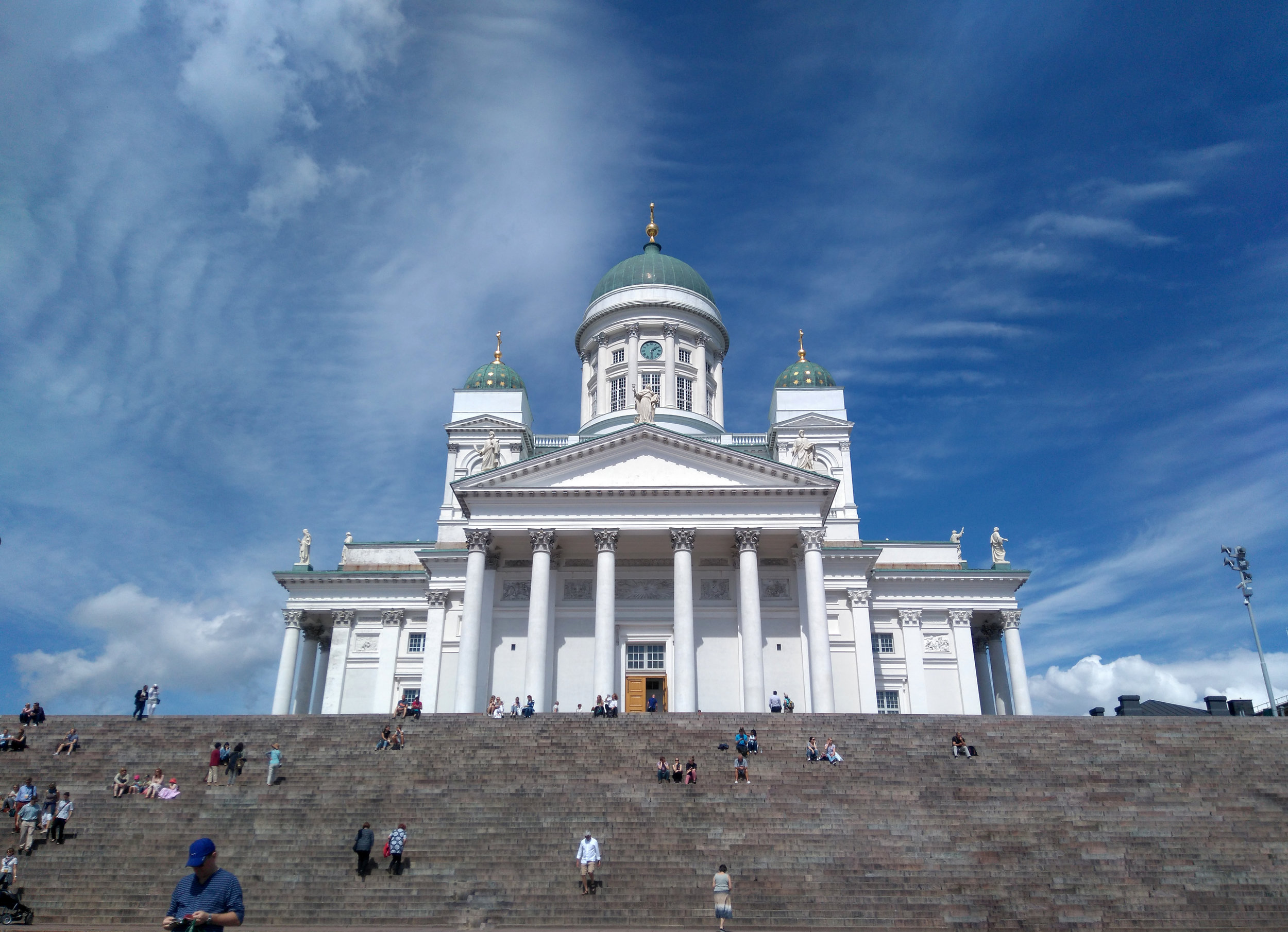 Tourists will be welcomed into Helsinki a little differently than usual before getting to see sights like Helsinki Cathedral (pictured).